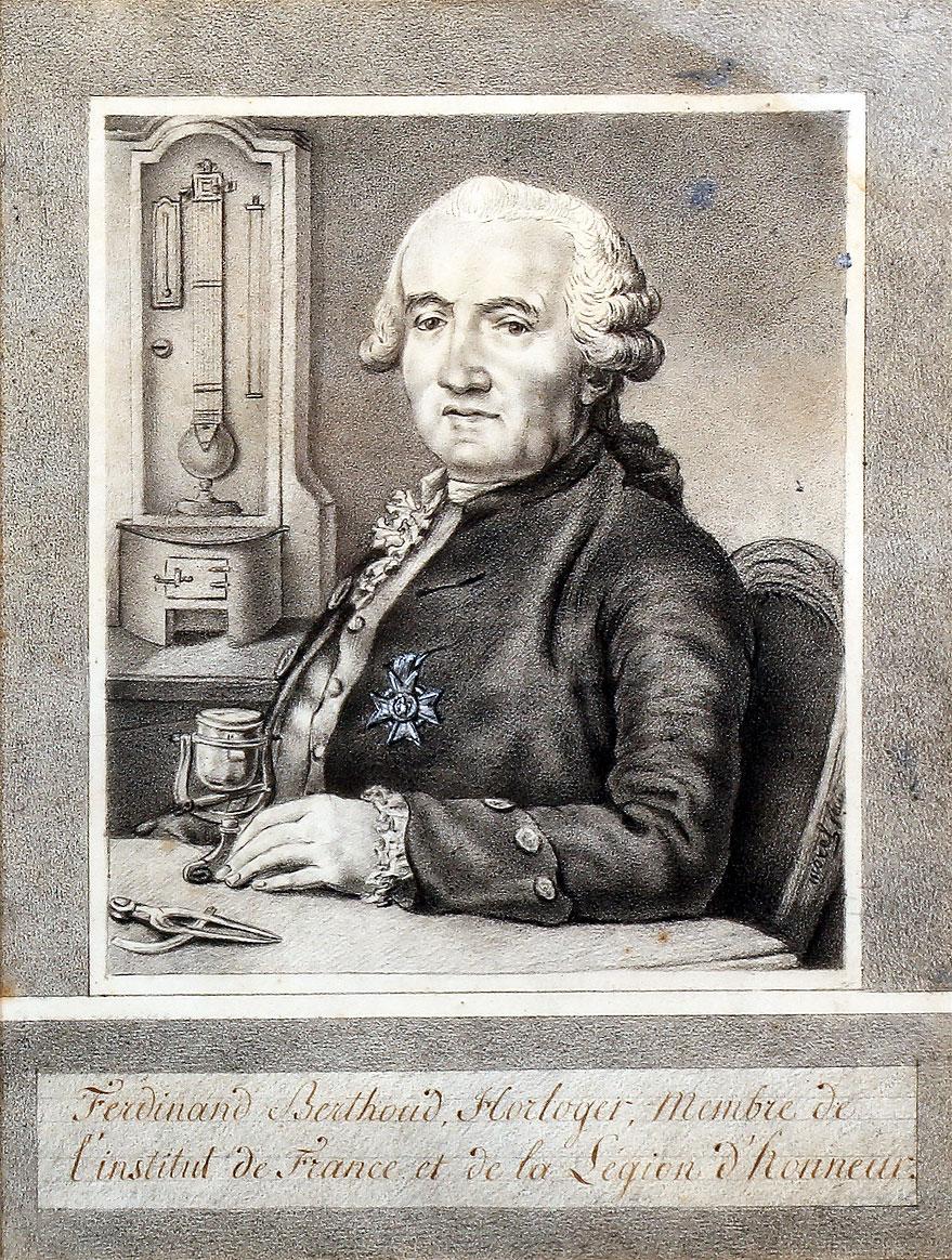 Ferdinand Berthoud with his Légion d'Honneur
