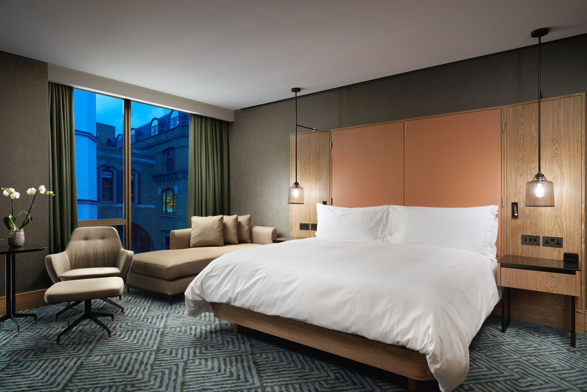 Guestroom at the newly opened Hilton London Bankside