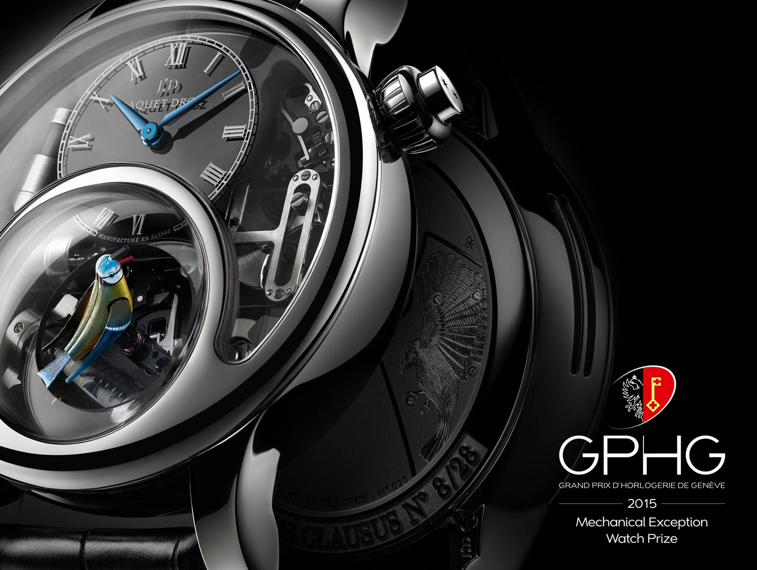 "The Jaquet Droz Charming Bird was the winner in the ""Mechanical Exception"" category at the Grand Prix d'Horlogerie de Genève"