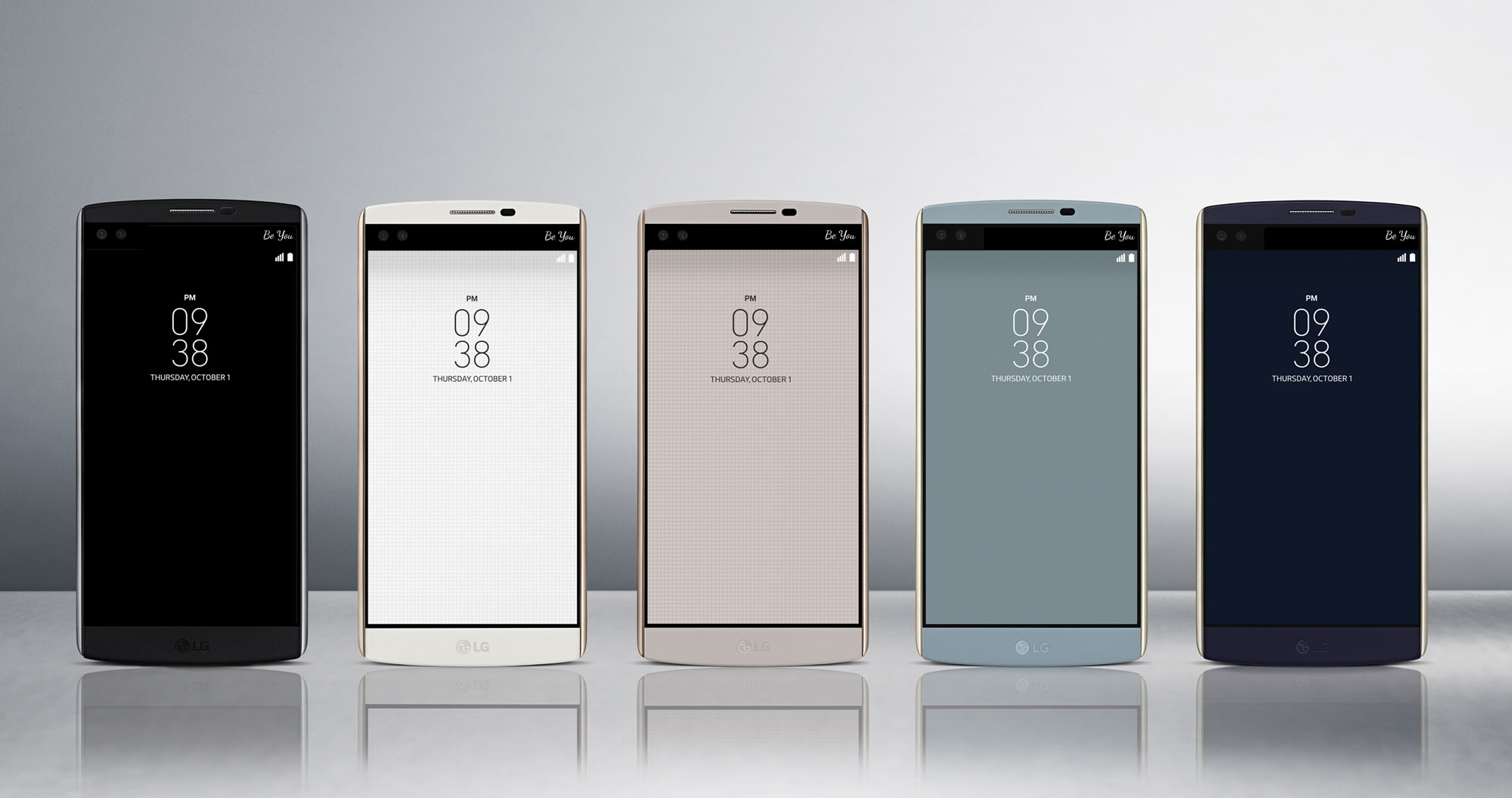 The LG V10 is available in the following colours: Space Black / Luxe White / Modern Beige / Ocean Blue / Opal Blue