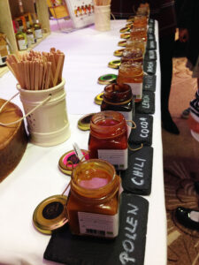 There were many varieties on display at the London Honey Show