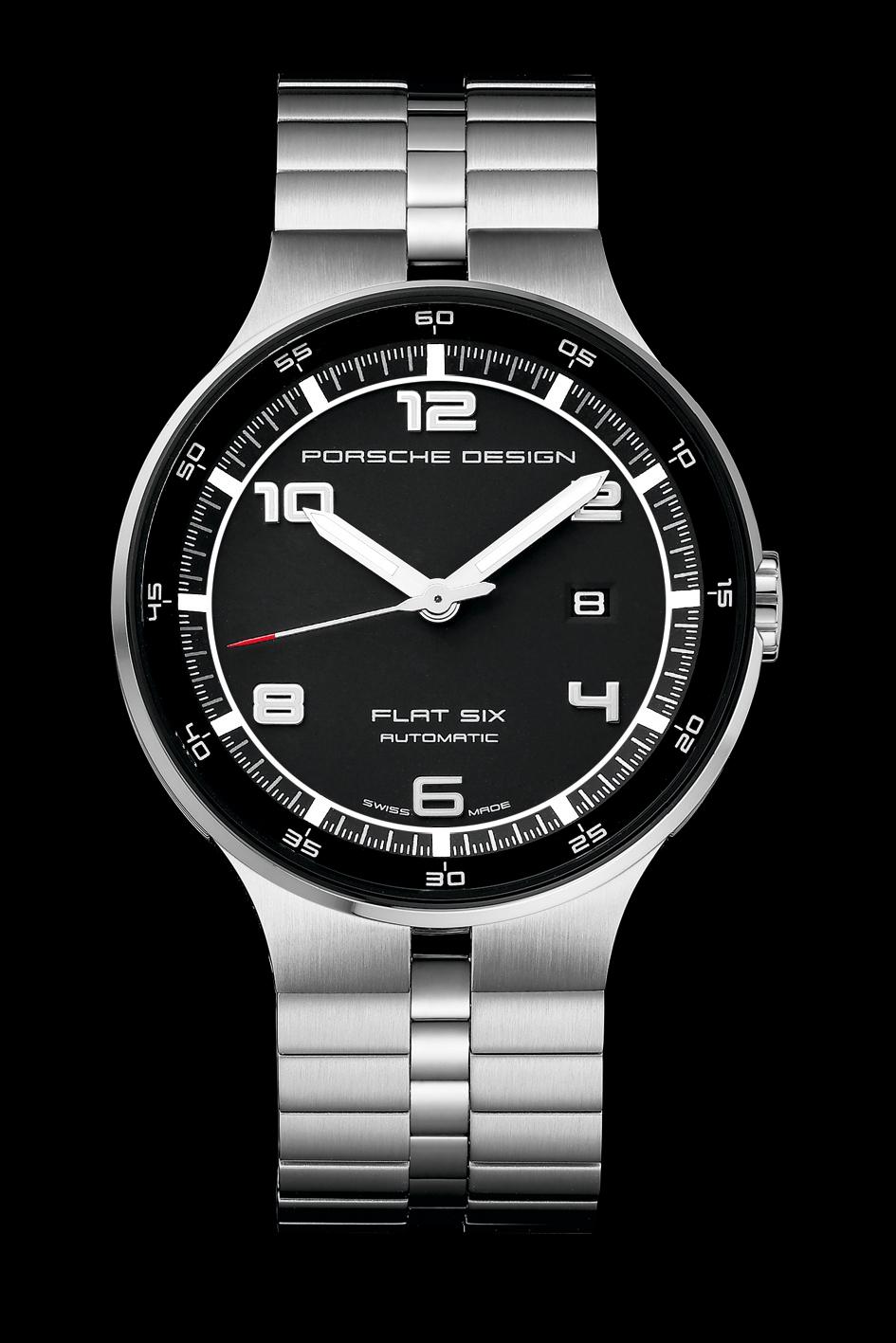 Porsche Design P'6350 Flat Six Automatic 44 timepiece. Iconic style. A puristic timepiece, uniquely interpreted.