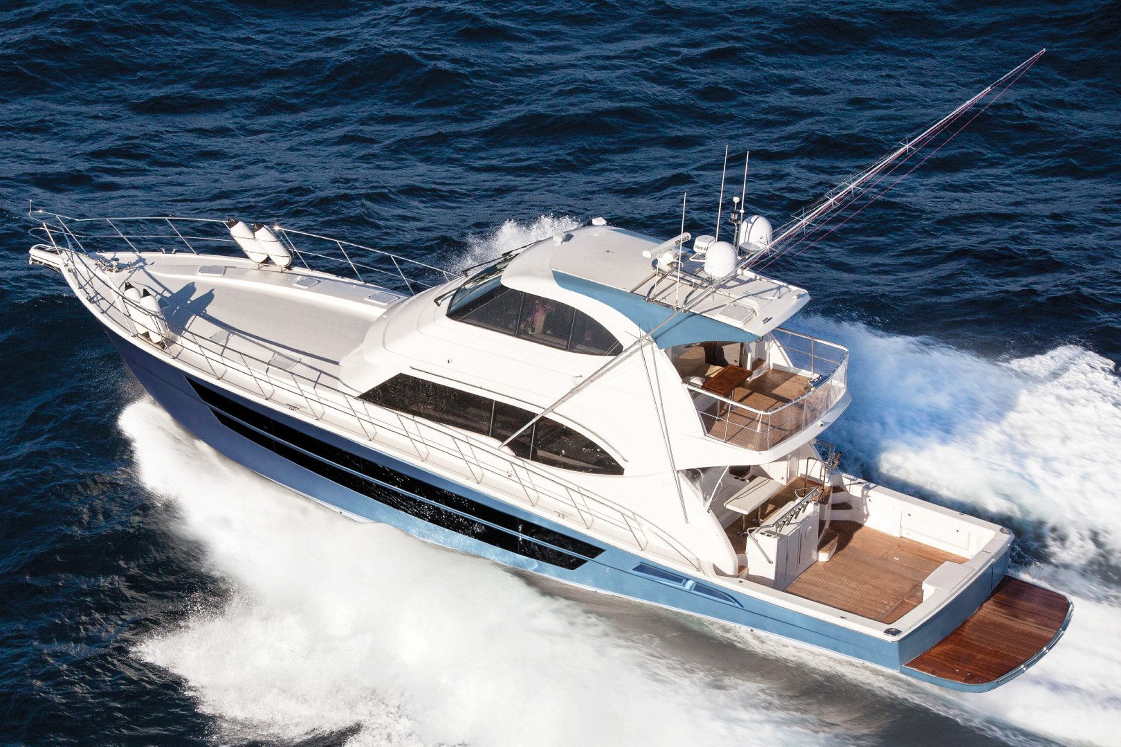 Riviera's 77 Enclosed Flybridge Ready For Qatar Premier