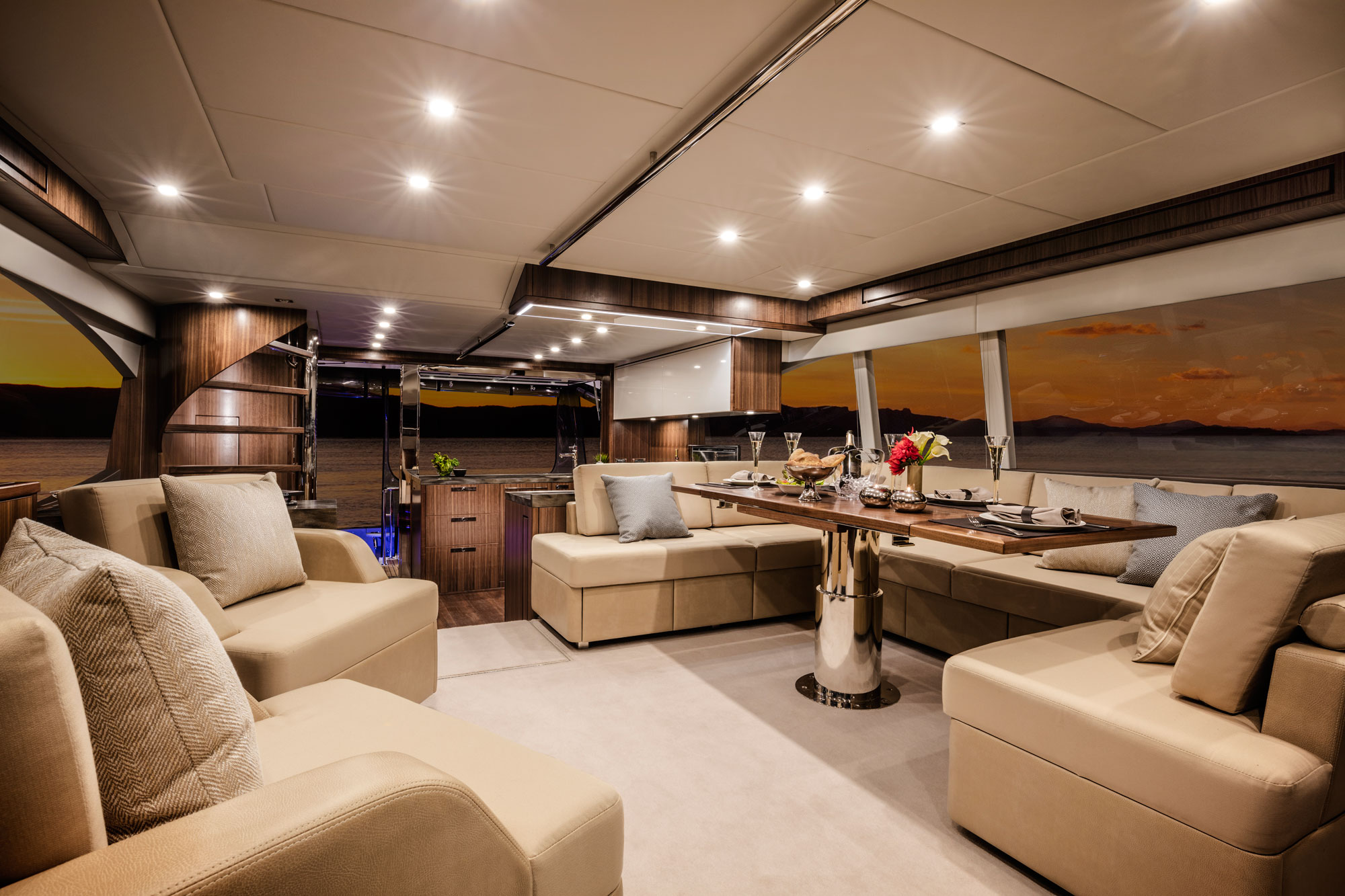 Riviera's 77 Enclosed Flybridge Ready For Qatar Premier 3