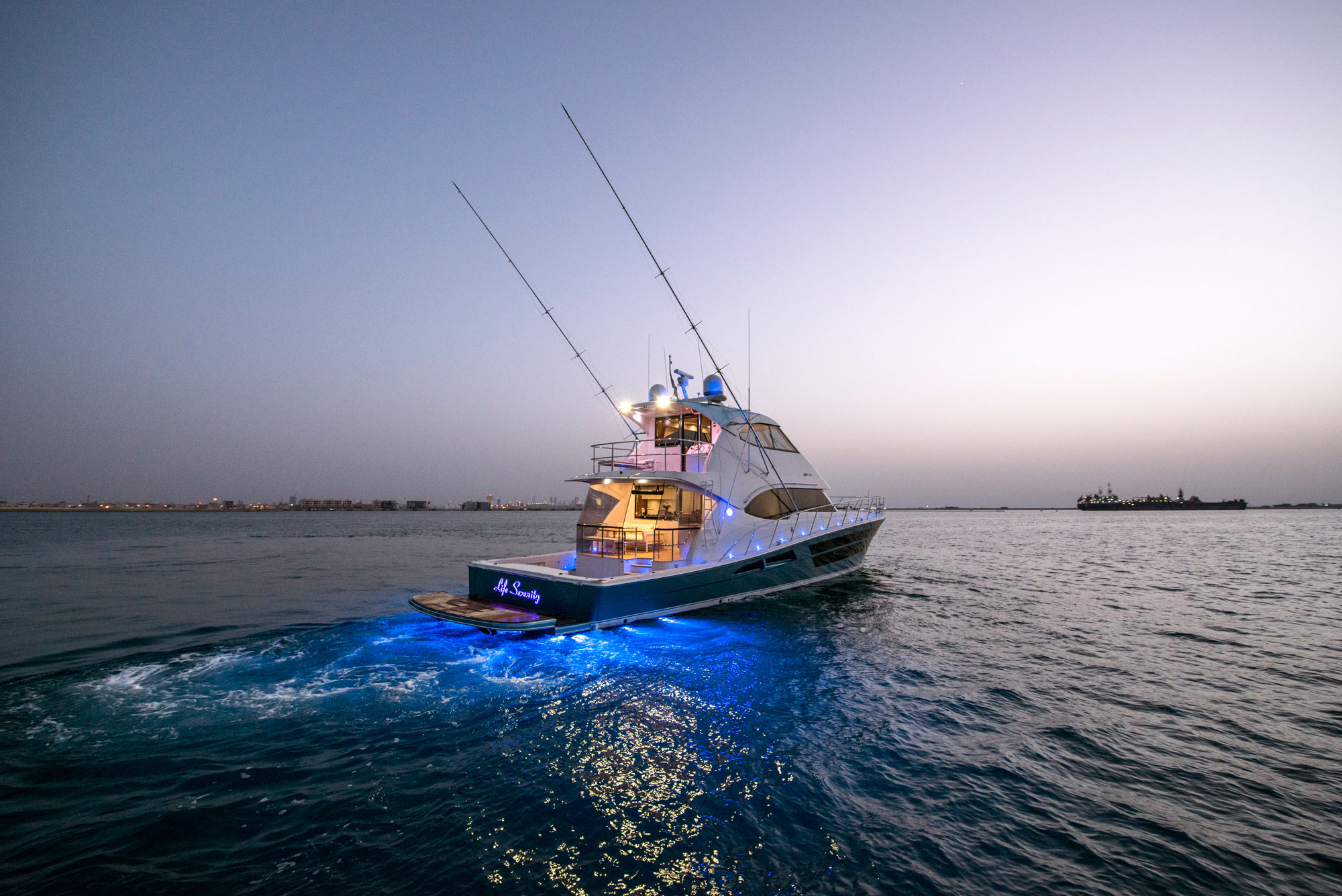 Riviera's 77 Enclosed Flybridge Ready For Qatar Premier 4