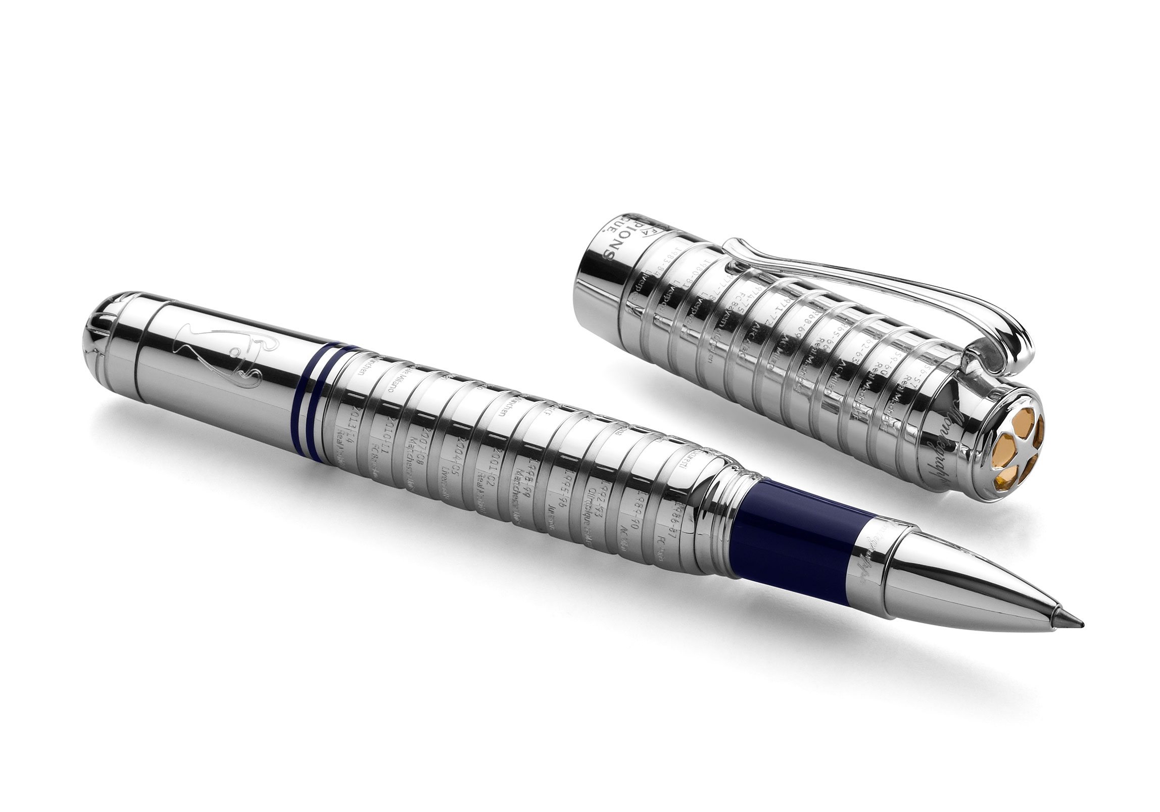 Montegrappa launch limited edition gold and silver pen collection in celebration of European football