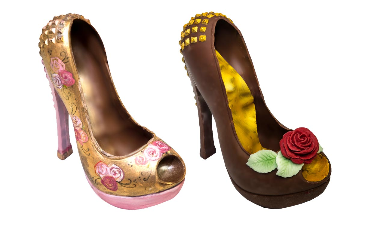 handcrafted chocolate shoes and handbags
