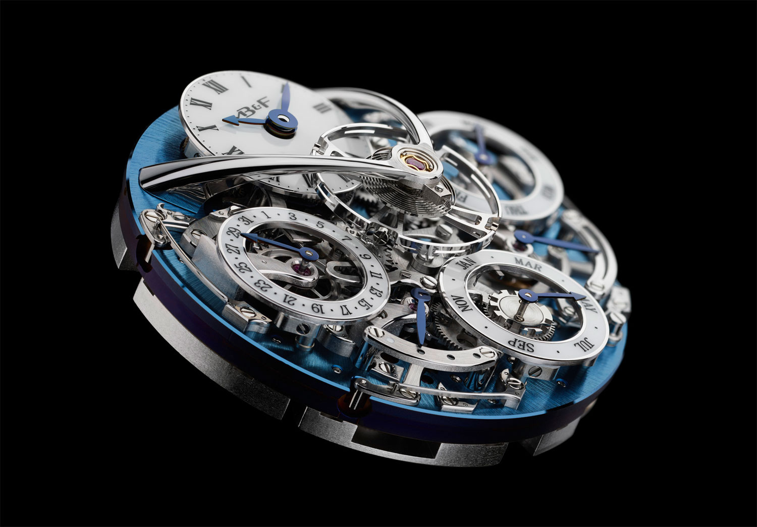 The Legacy Machine Perpetual watch features a fully integrated 581-component calibre