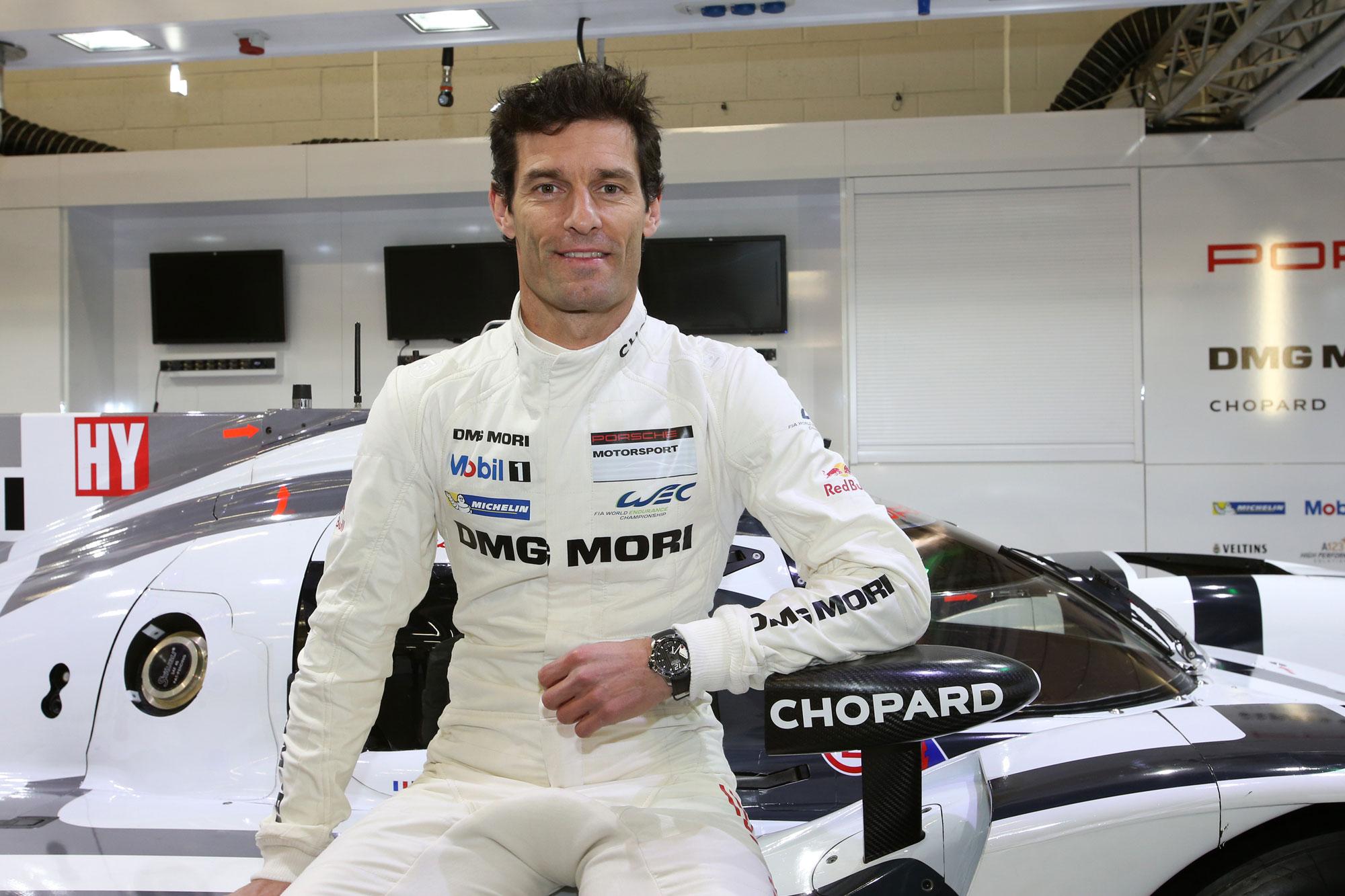 Chopard's ambassador, Mark Webber