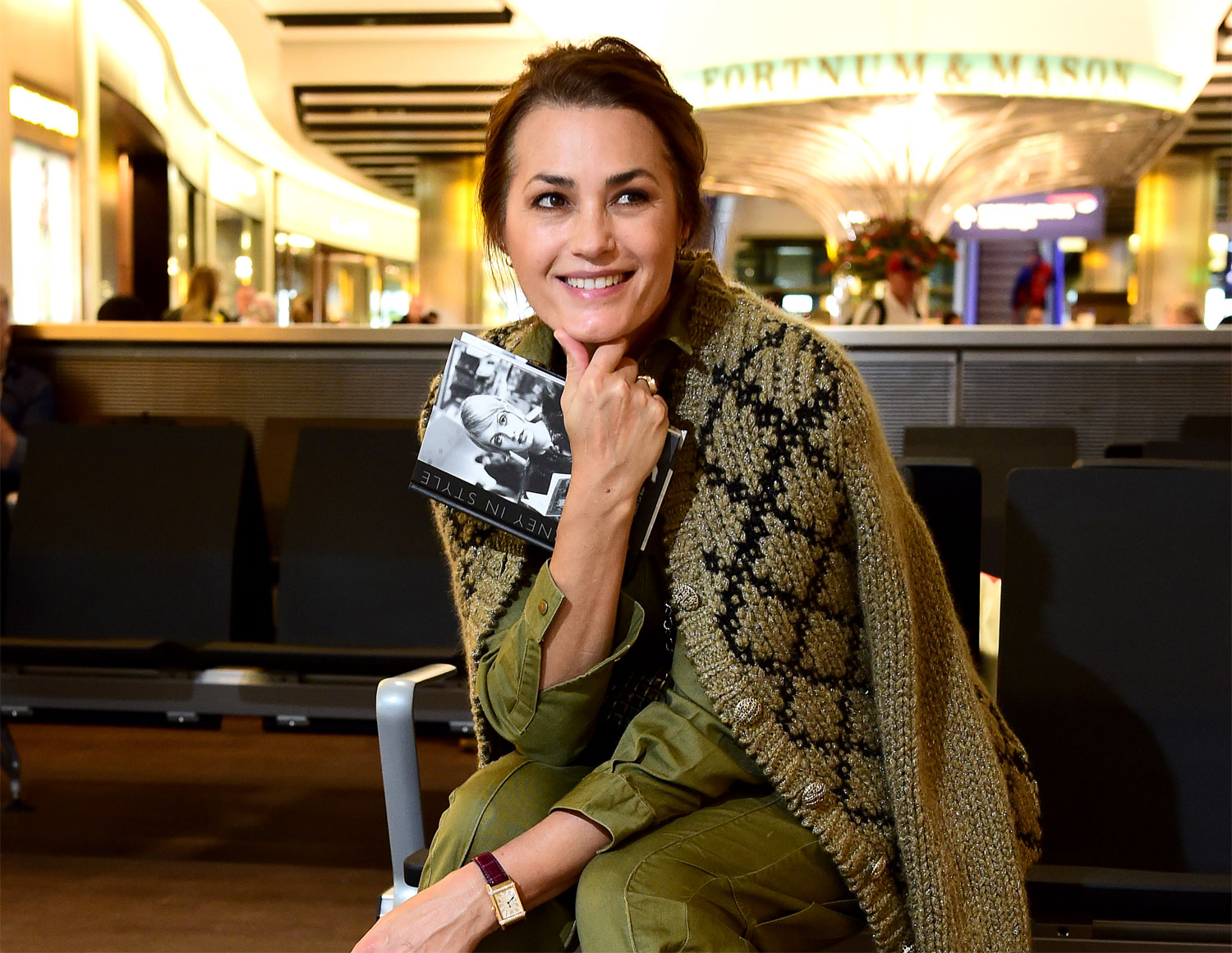 """Globally-renowned British supermodel, Yasmin Le Bon, took centre stage at Heathrow Airport to launch her new coffee table book """"A Journey in Style"""""""