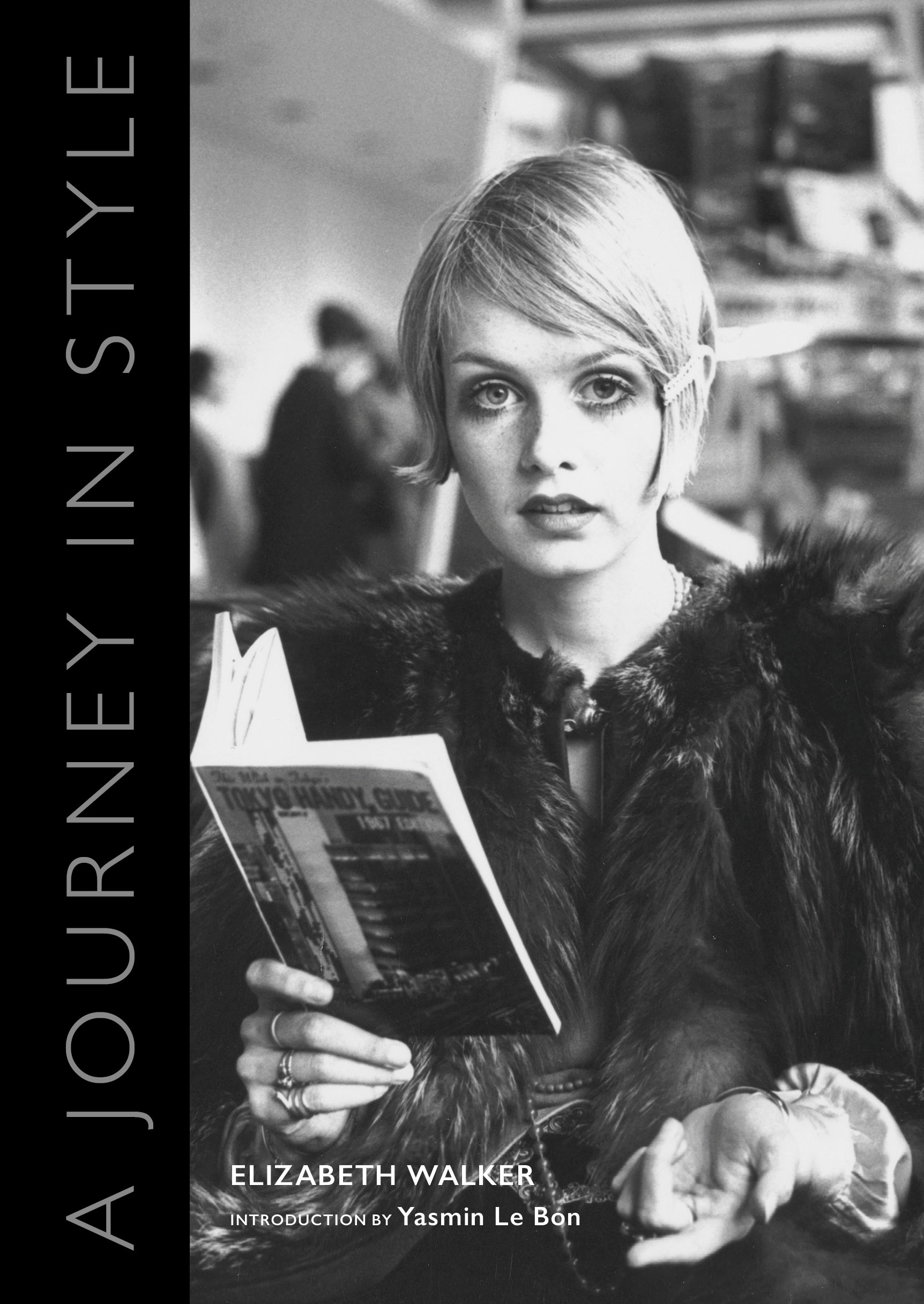 The hardback book, the proceeds of which will go to Oxfam, also features one of the most iconic faces of the Swinging Sixties, Twiggy, on its cover