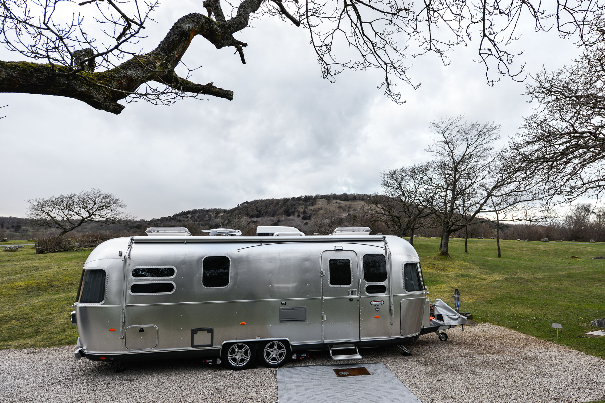 The beautiful and classic Airstream with the UK Caravan Club