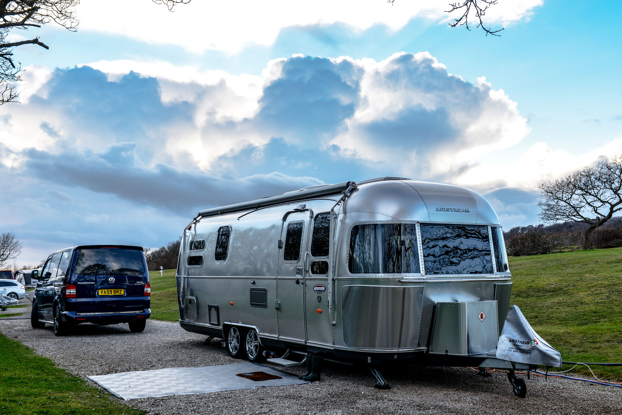 A beautiful Airstream at one of the Caravan Club sites
