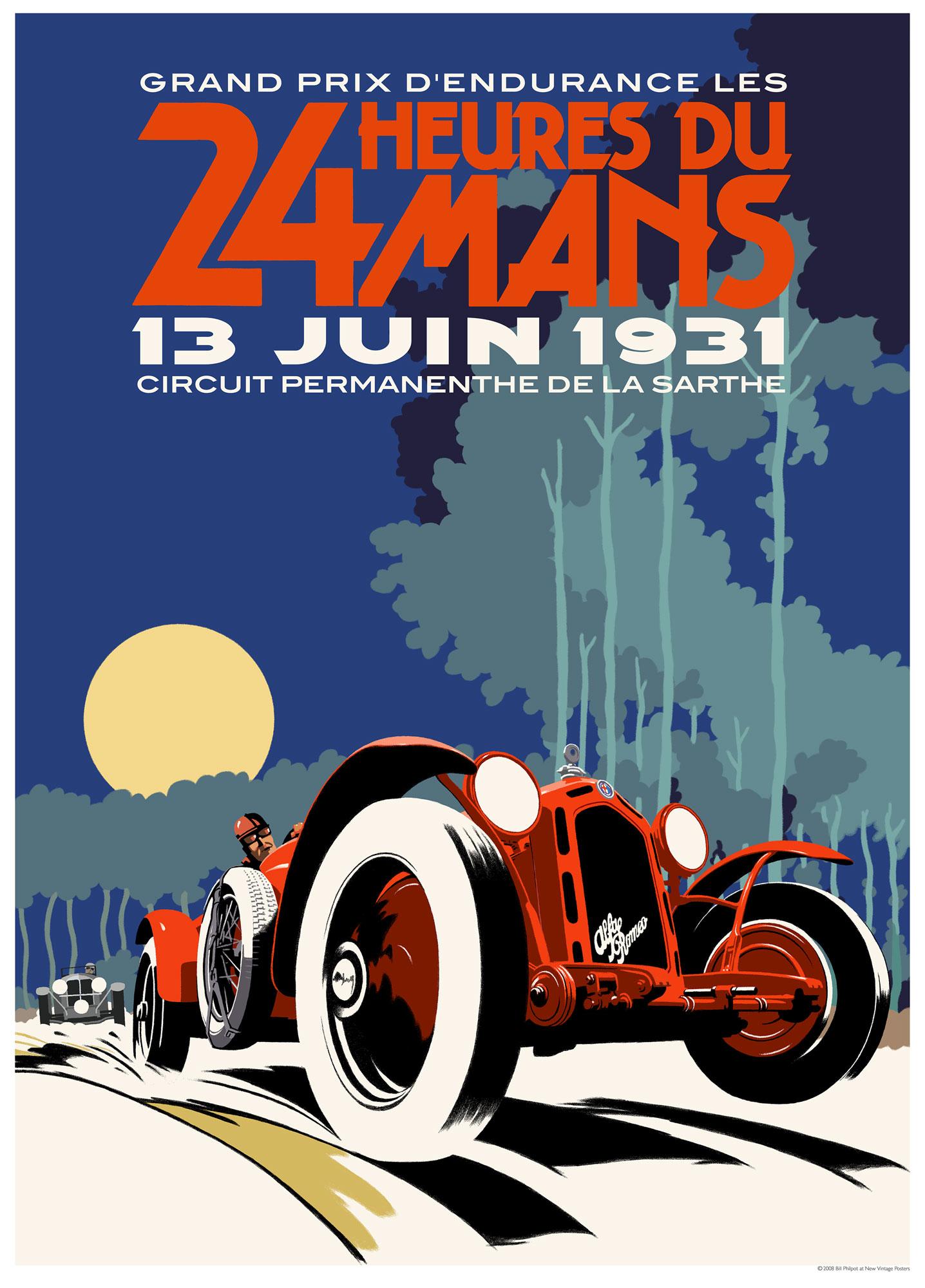 Alfa Romeo Le Mans Hours Poster on Alfa Romeo 8c Le Mans