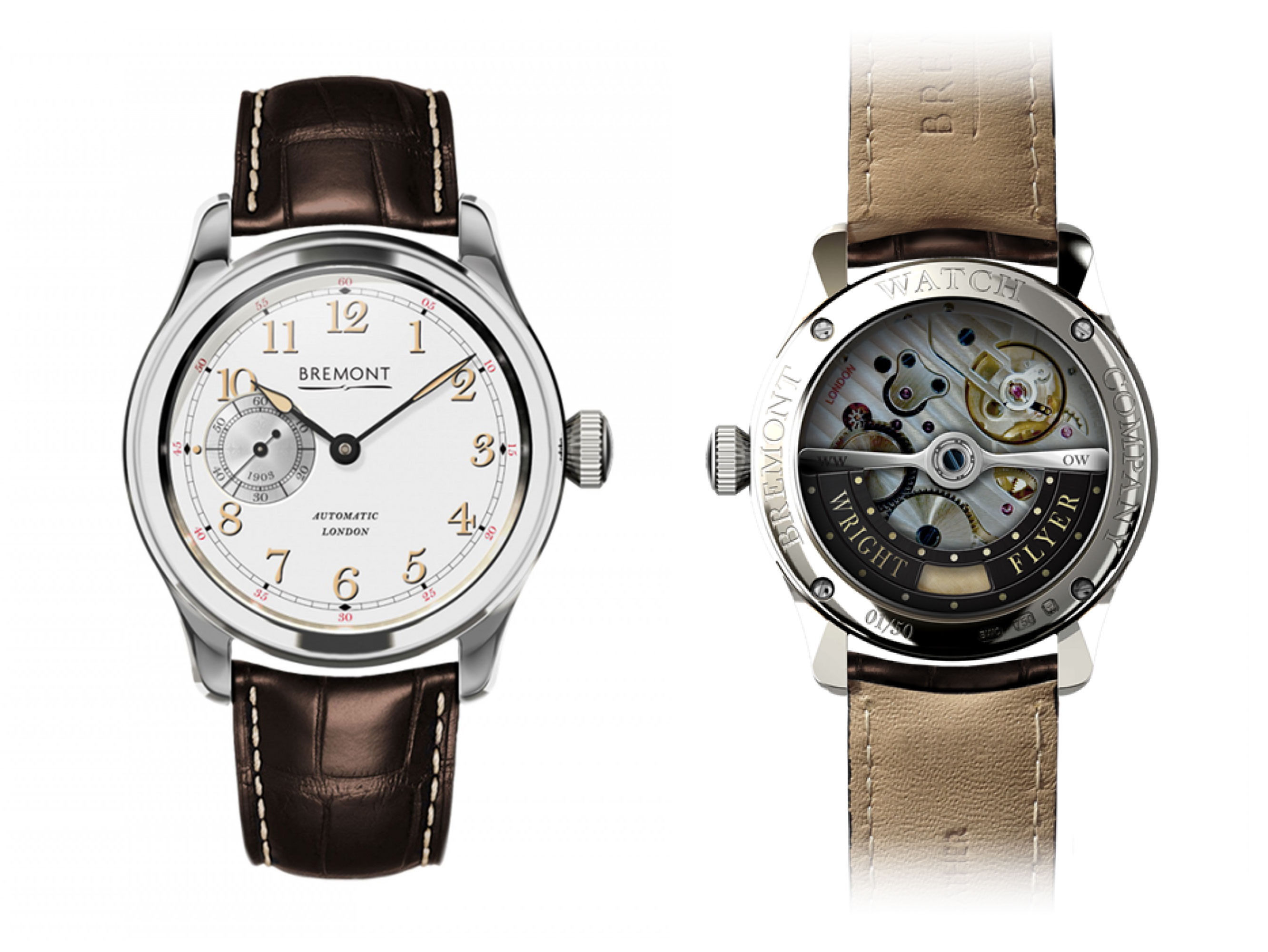 Bremont - White Gold Wright Flyer