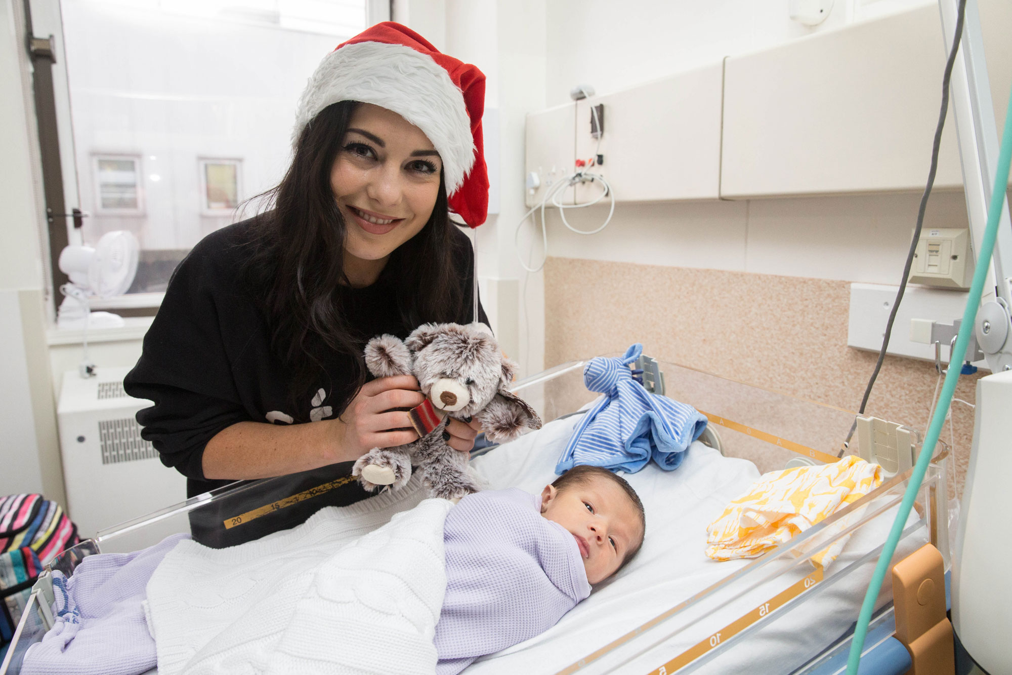 Made In Chelsea Stars Christmas Ward Visit at Royal Brompton Hospital