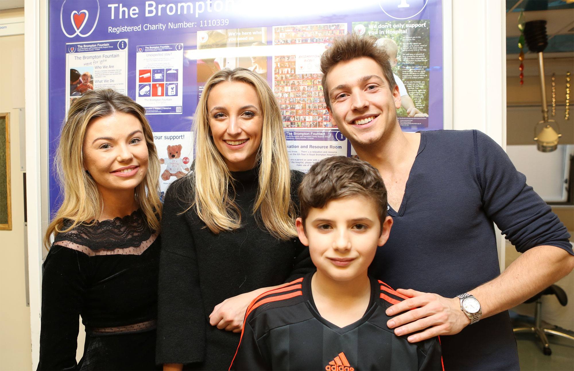 Made In Chelsea Stars Christmas Ward Visit at Royal Brompton Hospital 10