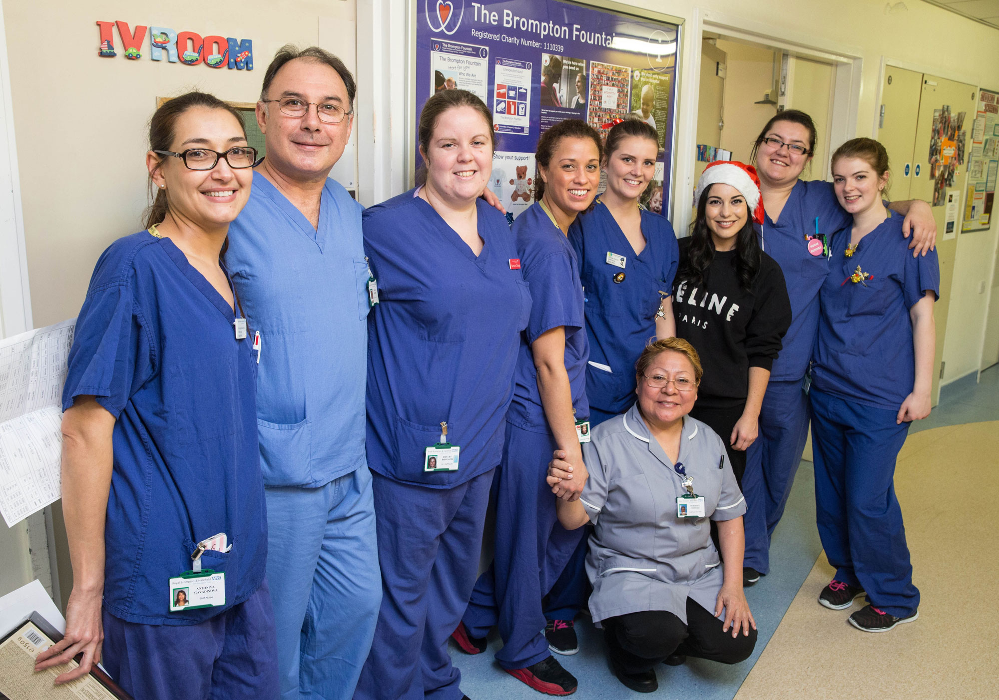 Made In Chelsea Stars Christmas Ward Visit at Royal Brompton Hospital 14