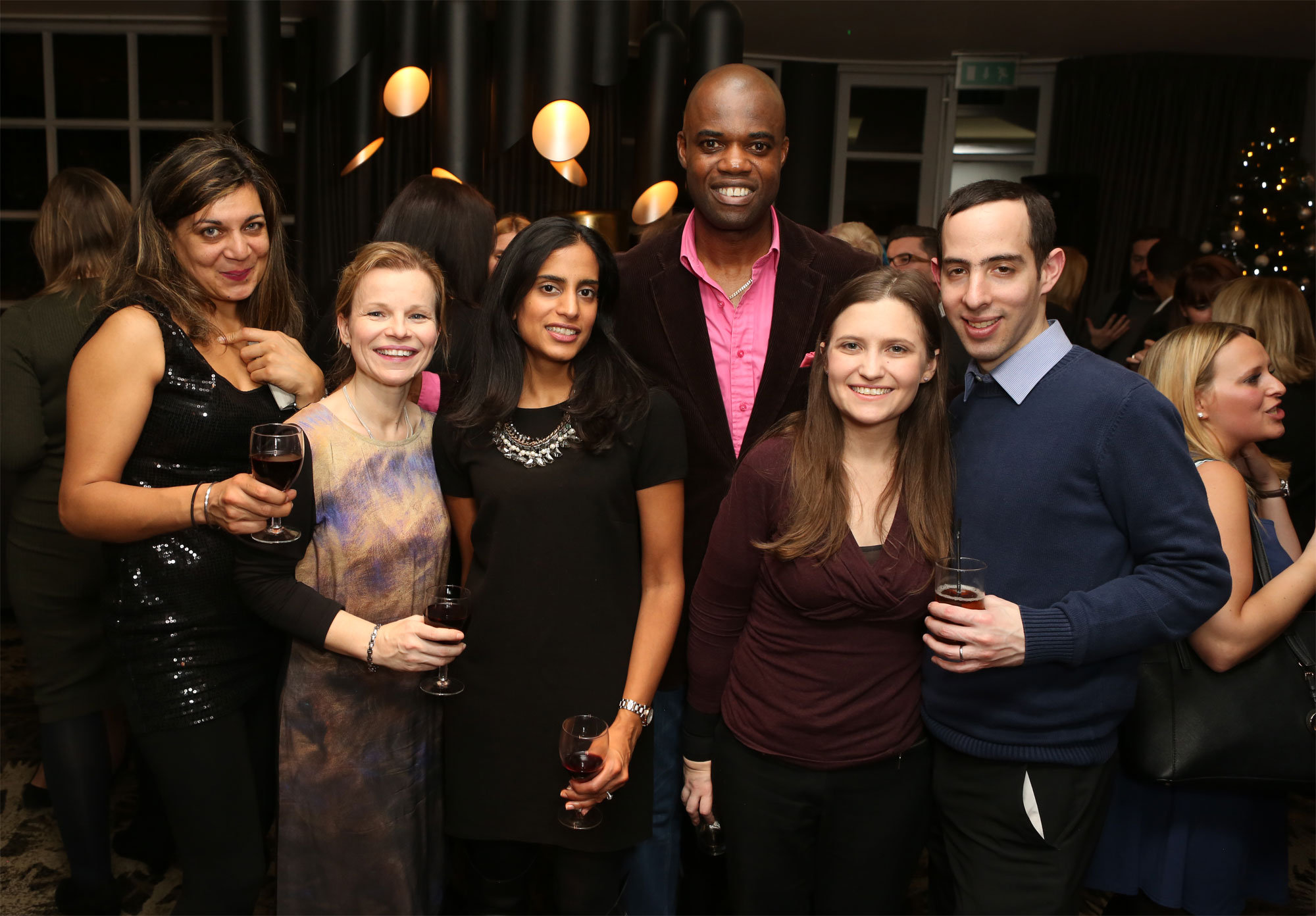 Members of the Luxurious Magazine London Editorial Team at the Brompton Fountain charity party