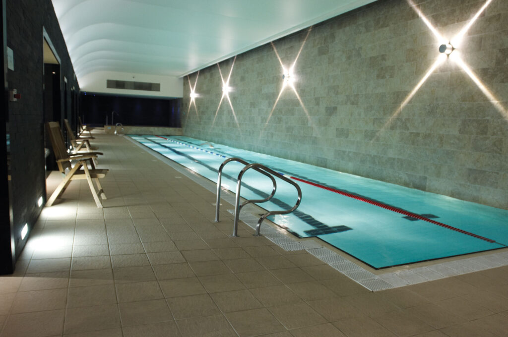 The indoor pool at the the Harbour Club, Chelsea