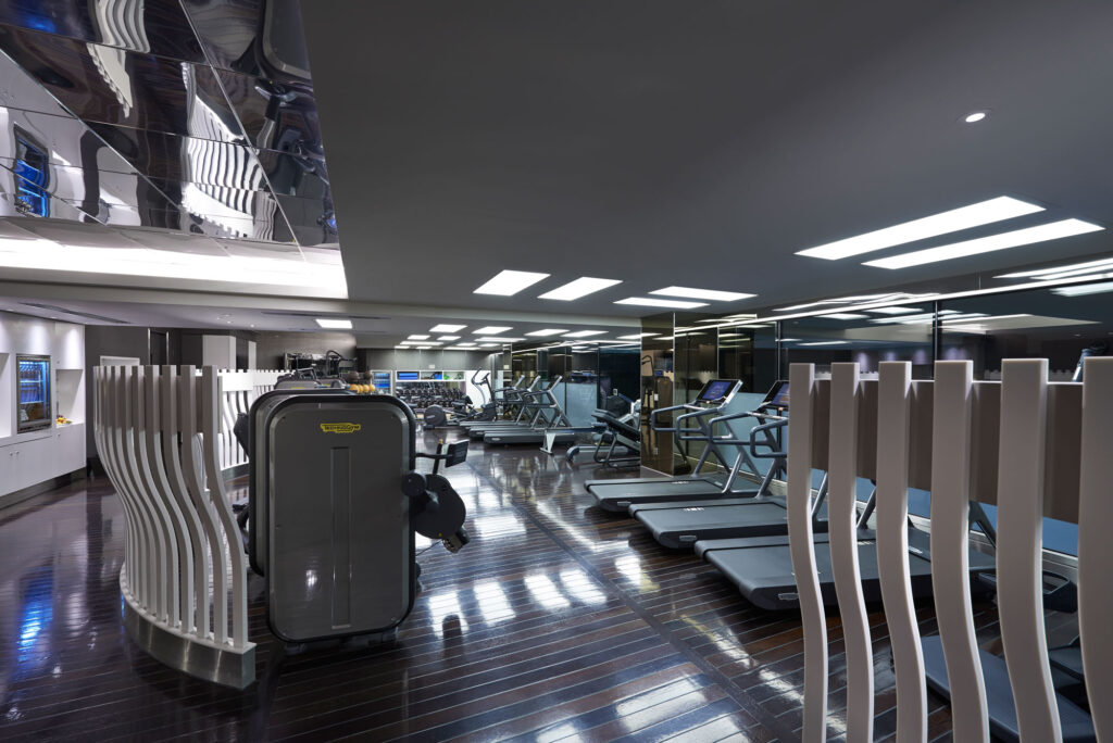 A view of the various workout machines at the Mandarin Oriental Fitness Centre, Hyde Park