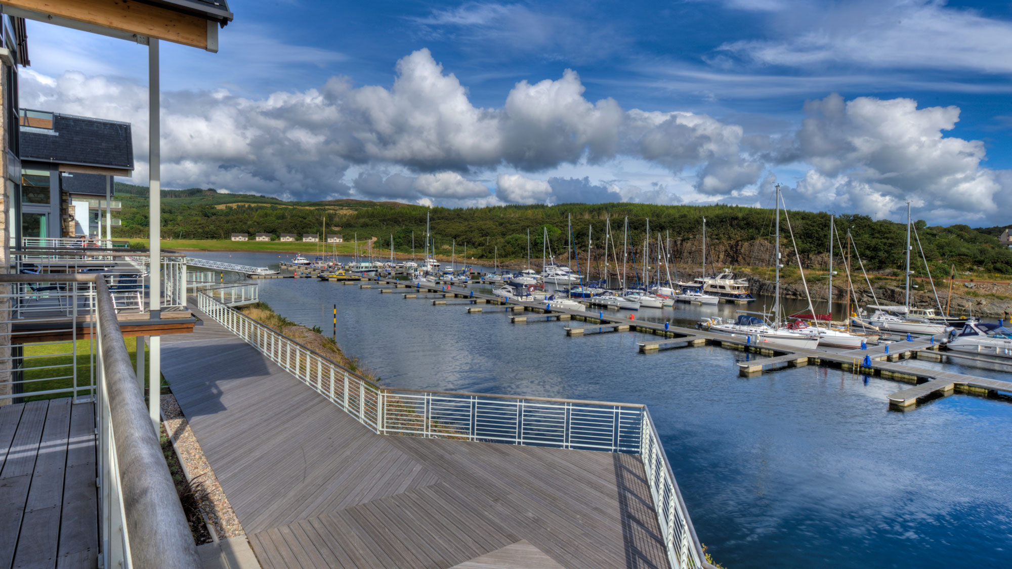 Set in a man-made lagoon, Portavadie is one of the UK's most modern marinas