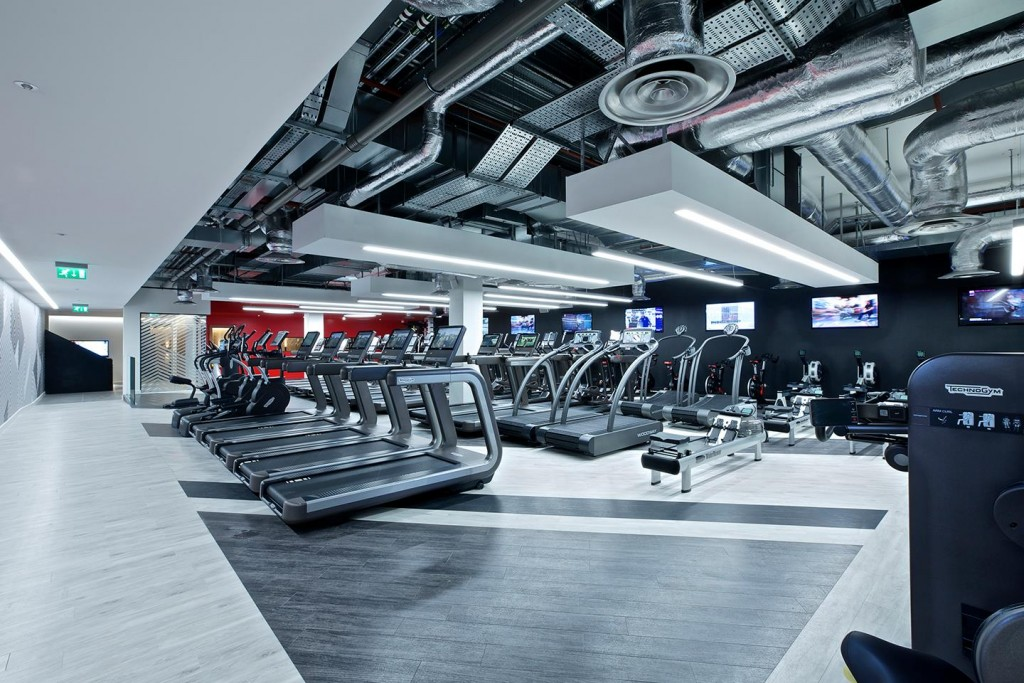 A variety of workout machines at Virgin Active's Walbrook Club, Cannon Street