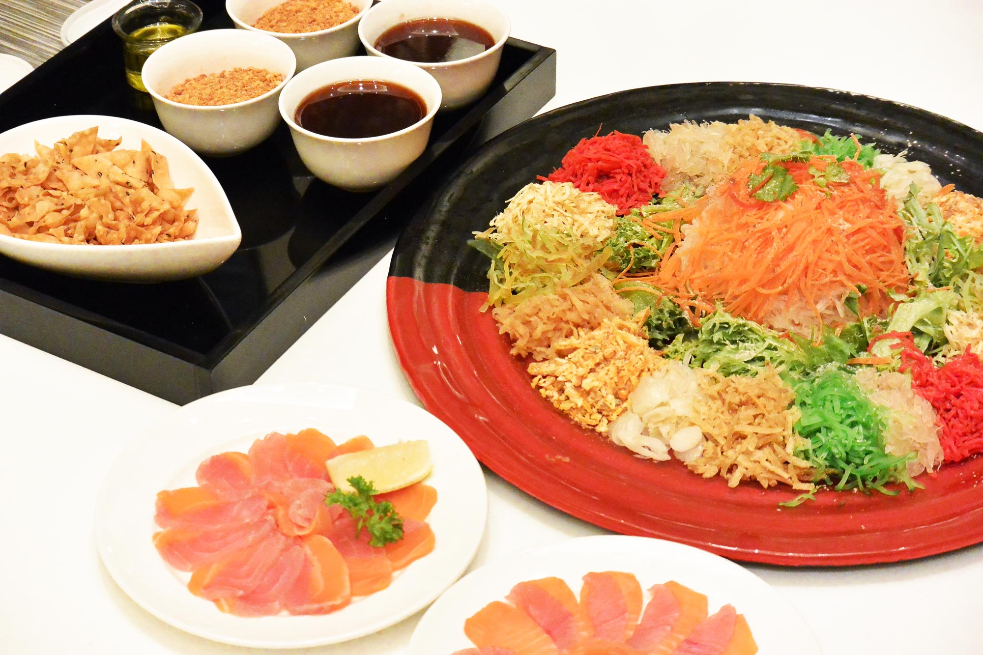 Yee Sang is a popular dish in Malaysia and other South East Asian countries