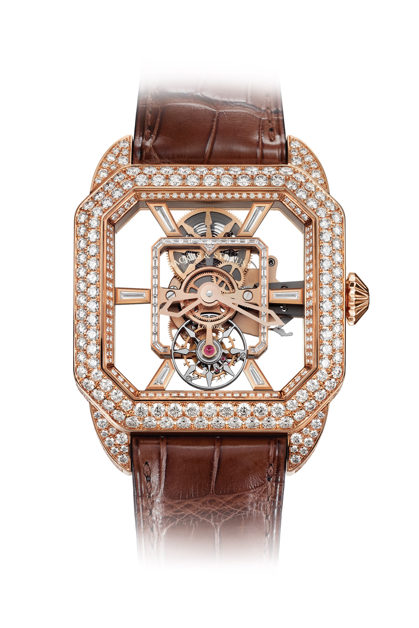 Berkeley Emperor Brilliant Tourbillon in Rose Gold from Backes & Strauss