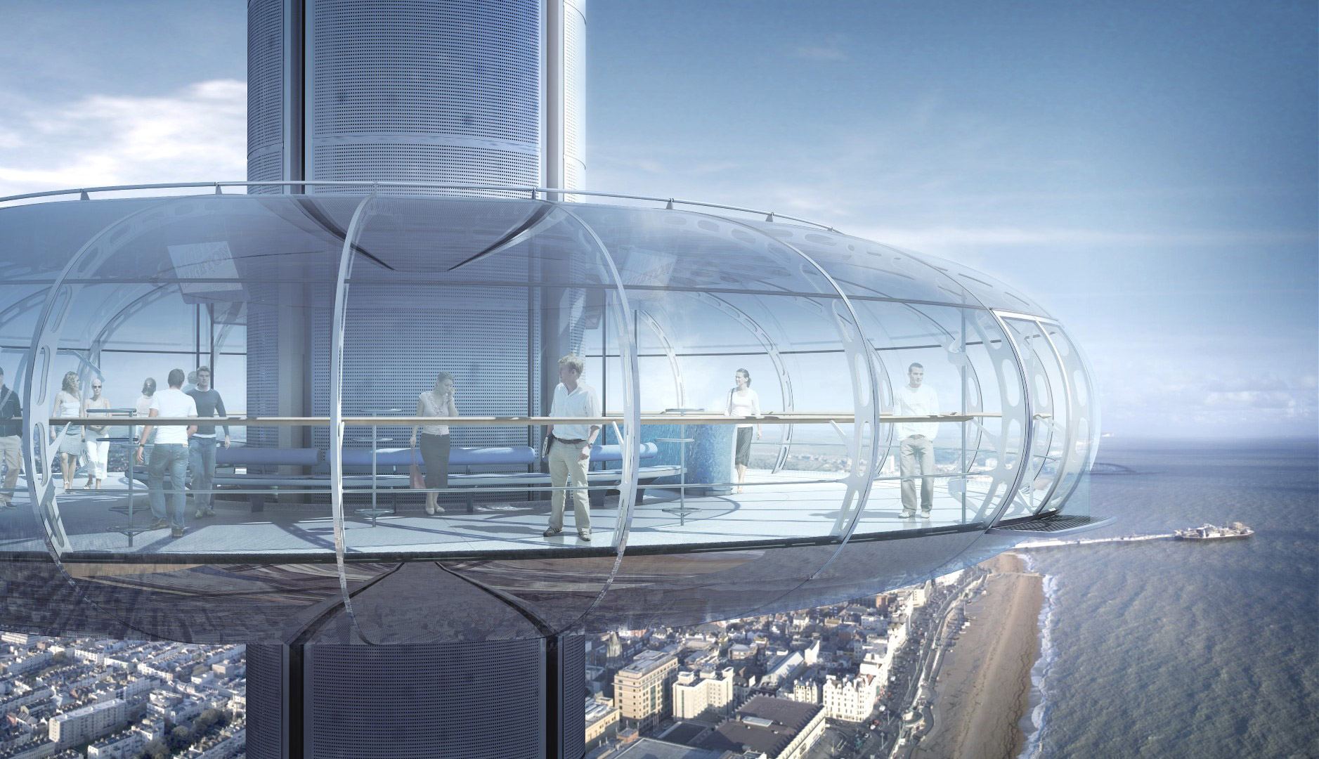 The British Airways i360 Prepares For Take-off 4