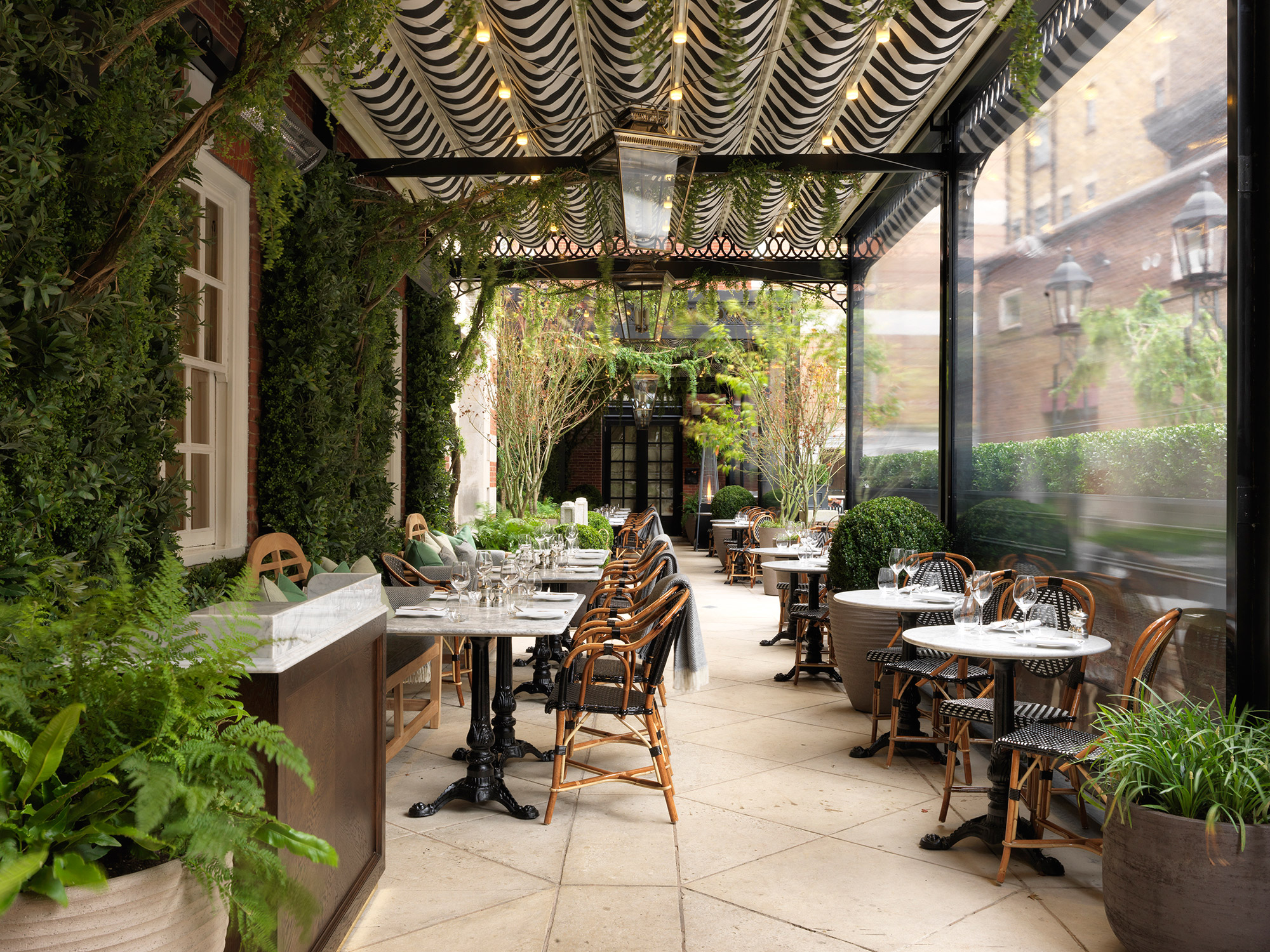 Dalloway terrace to open in the book capital of the for Open terrace restaurants