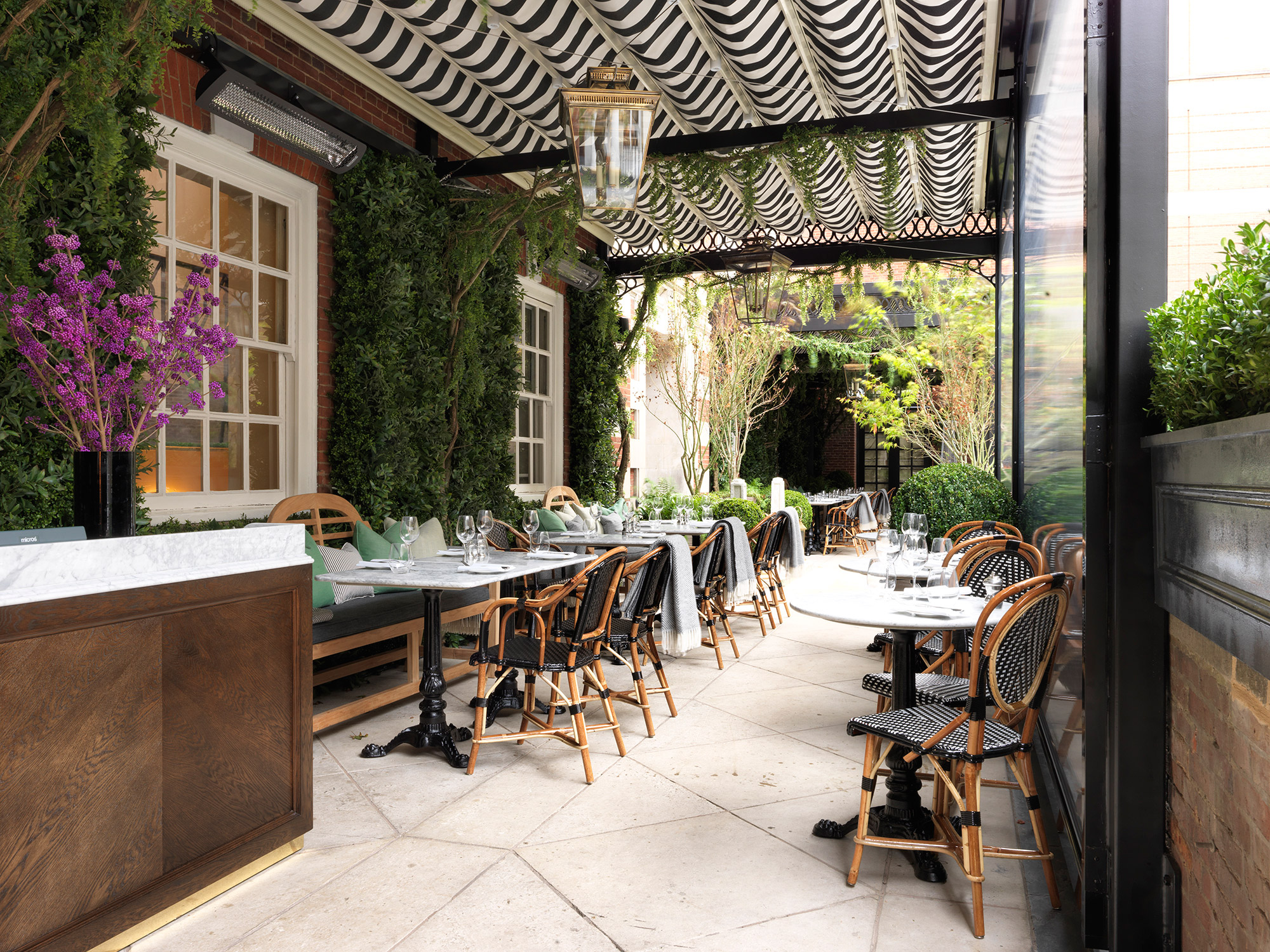 Dalloway terrace to open in the book capital of the for Restaurant with terrace