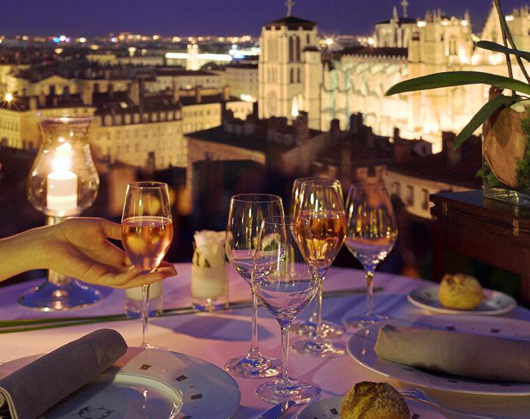 La Villa Florentine and Les Terrasses de Lyon restaurant, Lyon, France