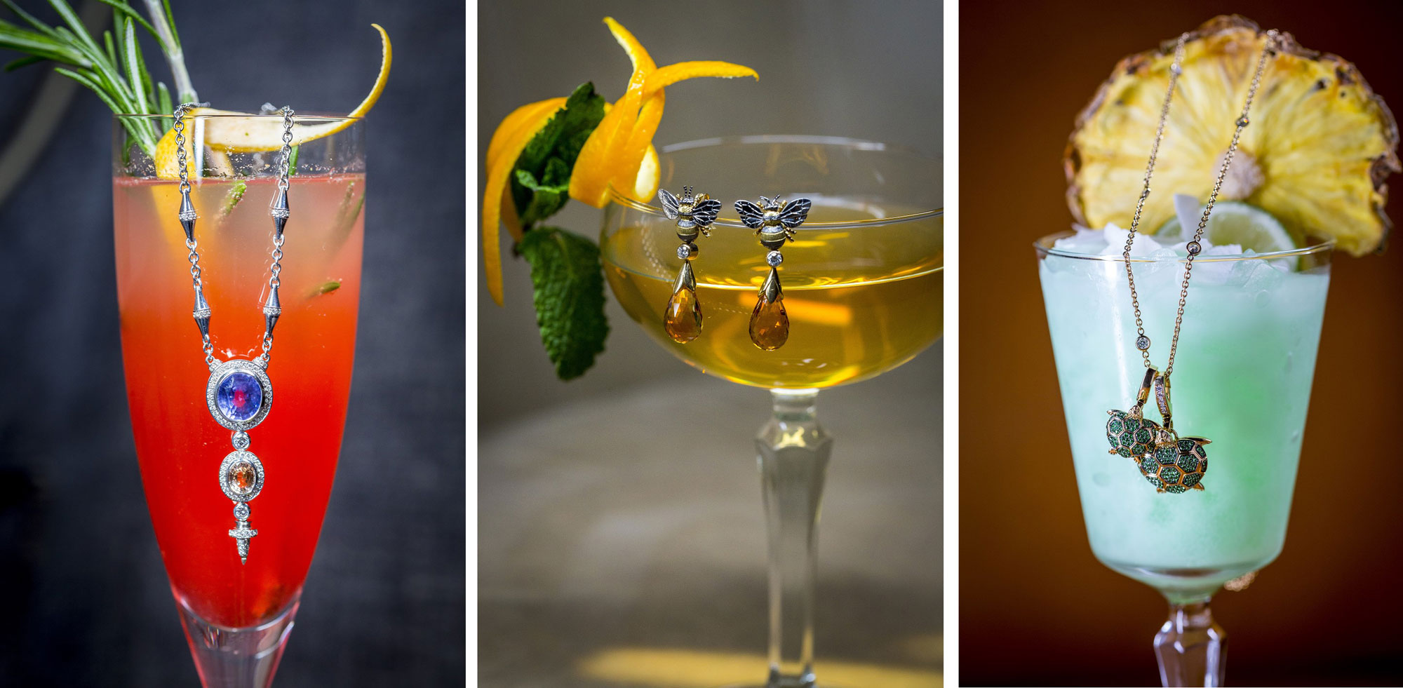 Threadneedle Bar launches cocktails inspired by Theo Fennell jewellery