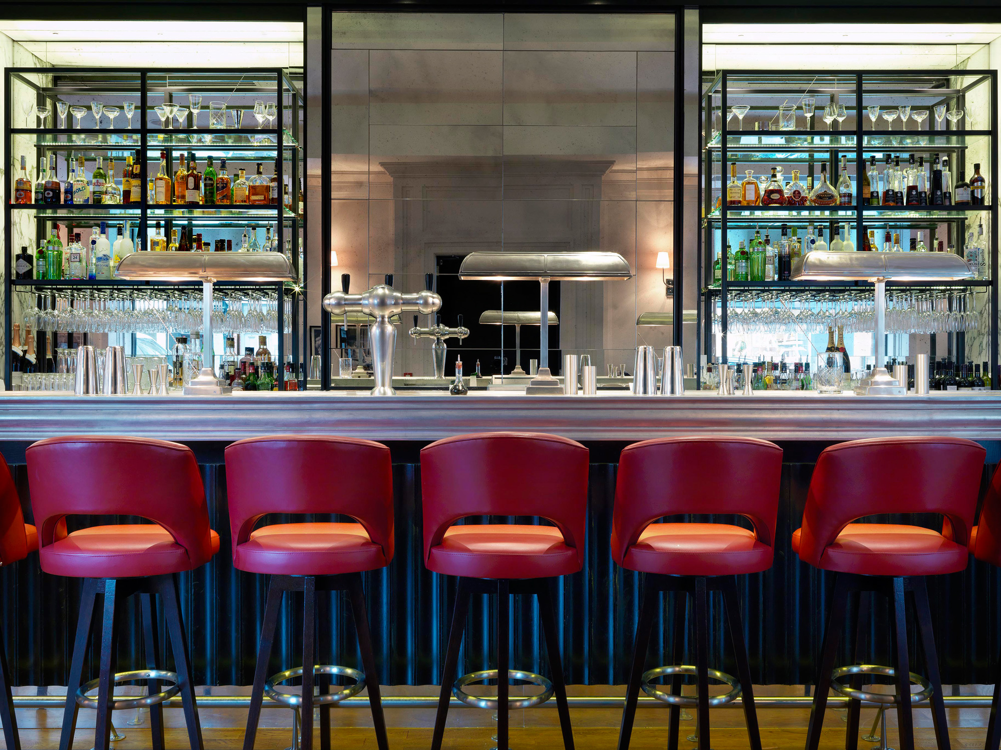 The well-stocked wine at 108 Brasserie features over 40 bins