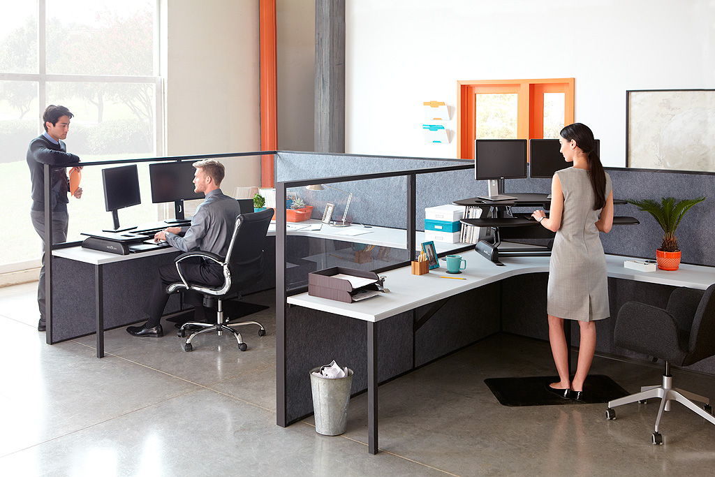 Stand Up Office Designs : Could the varidesk make one fitter productive