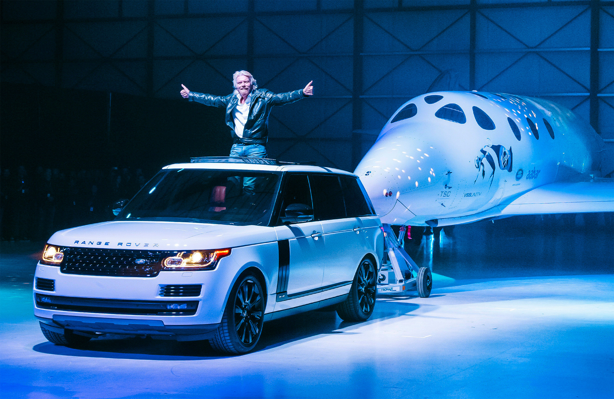 Range Rover Helps Unveil The New Virgin Galactic SpaceShipTwo