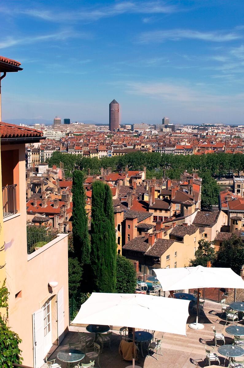 Terrasse Villa Florentine : La Villa Florentine and Les Terrasses de Lyon restaurant