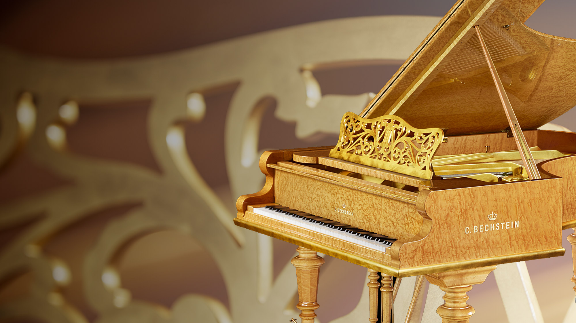 World Premiere: The C. Bechstein Salon Grand In Bird's Eye Maple