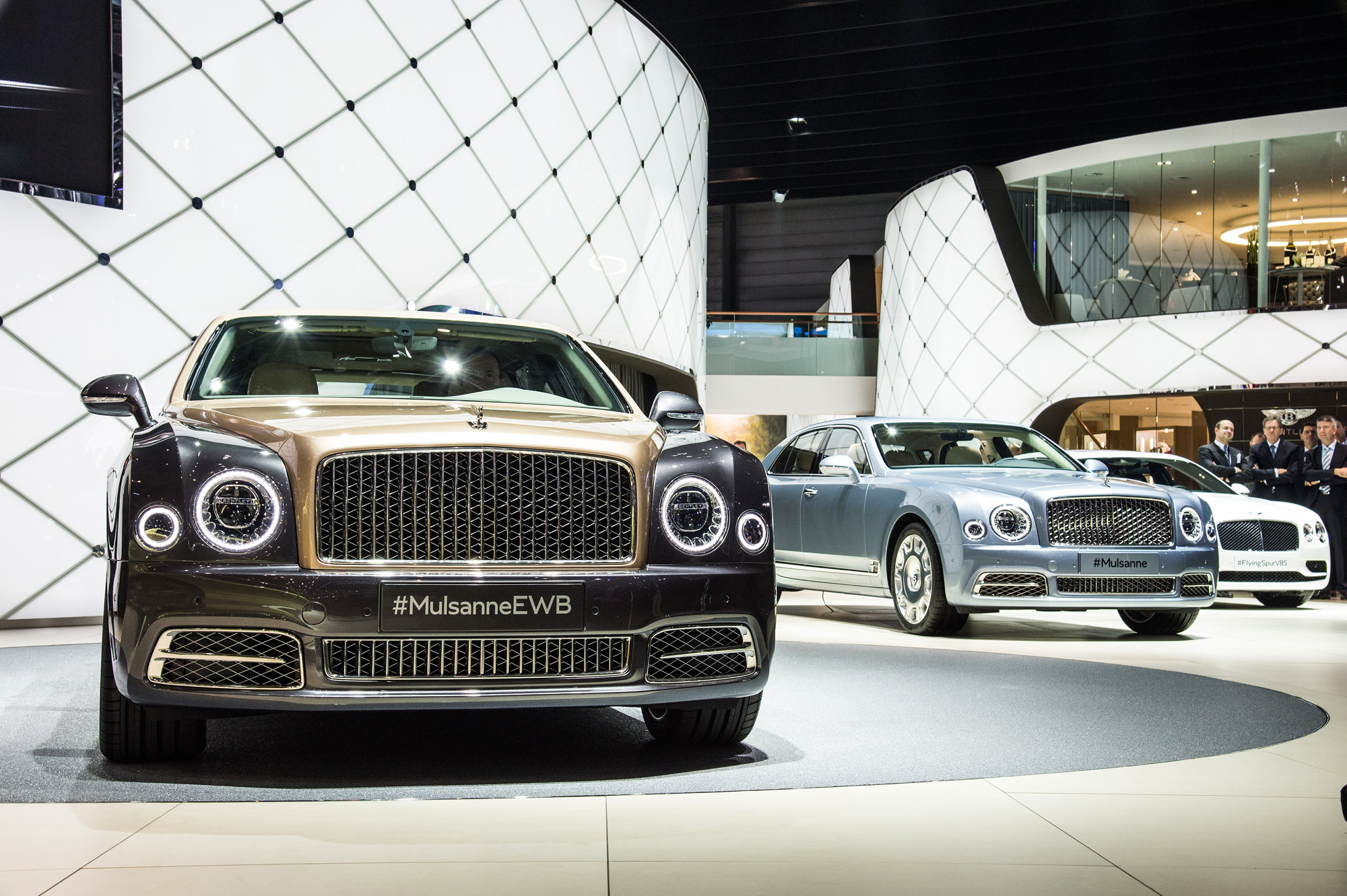 The Bentley Motors exhibition booth at the Geneva Motor Show