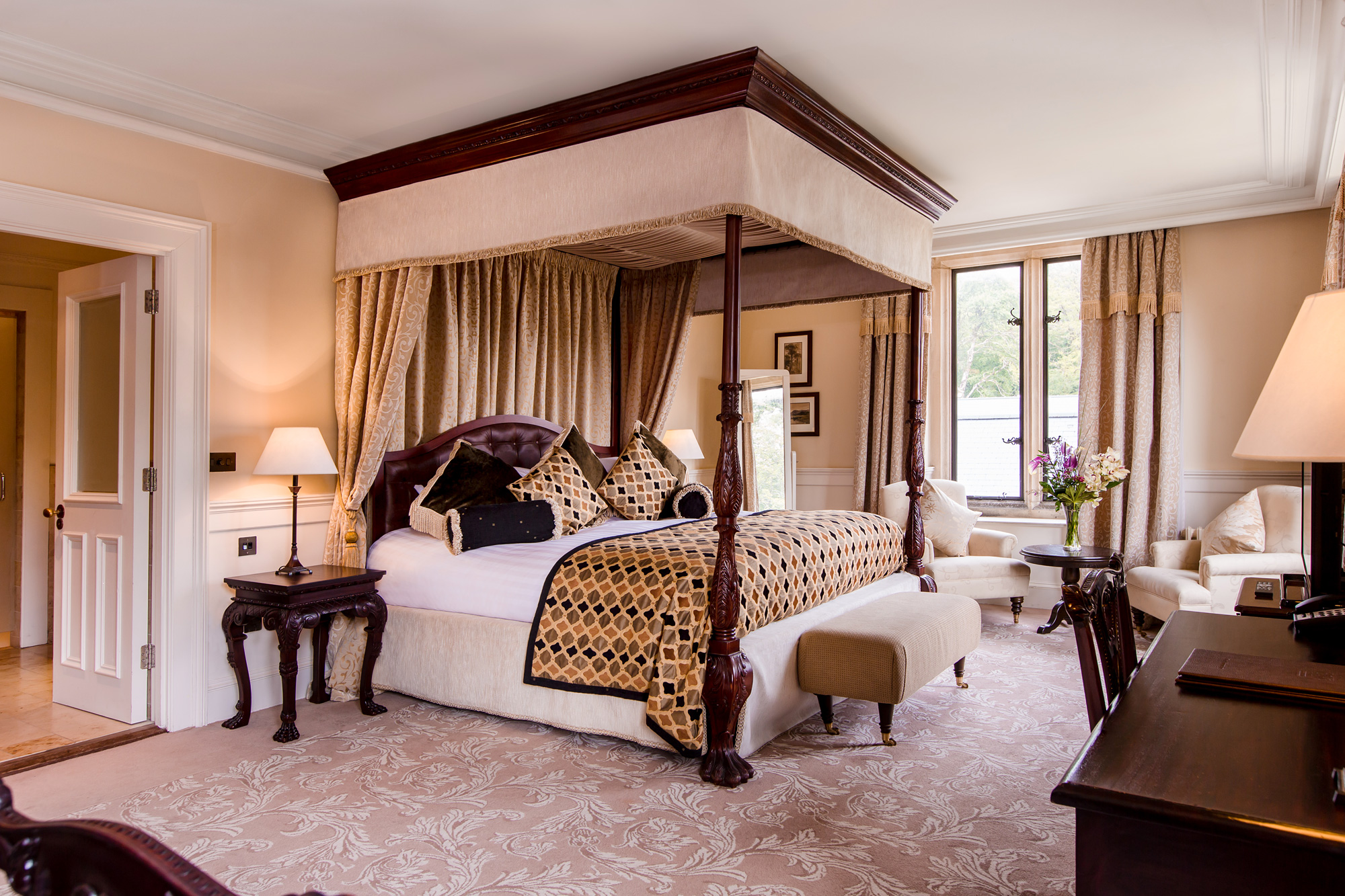 The luxurious Presedential Suite at Lough Eske Castle