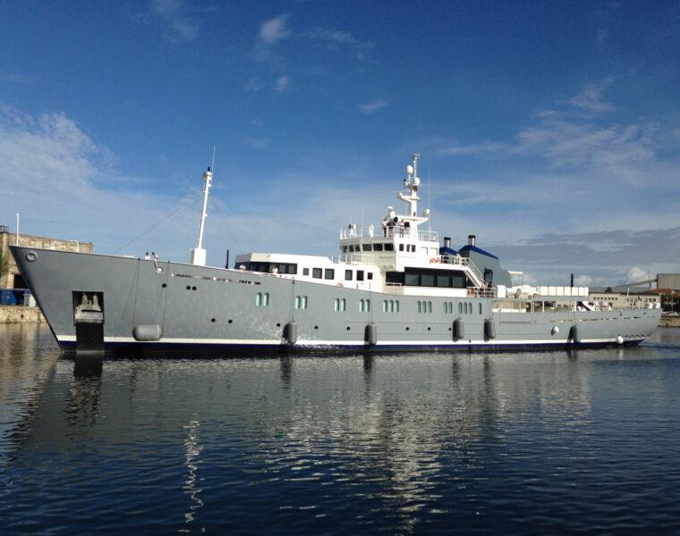 How The Fishery Patrol Vessel NORNA transformed Into M/Y ENIGMA XK 2