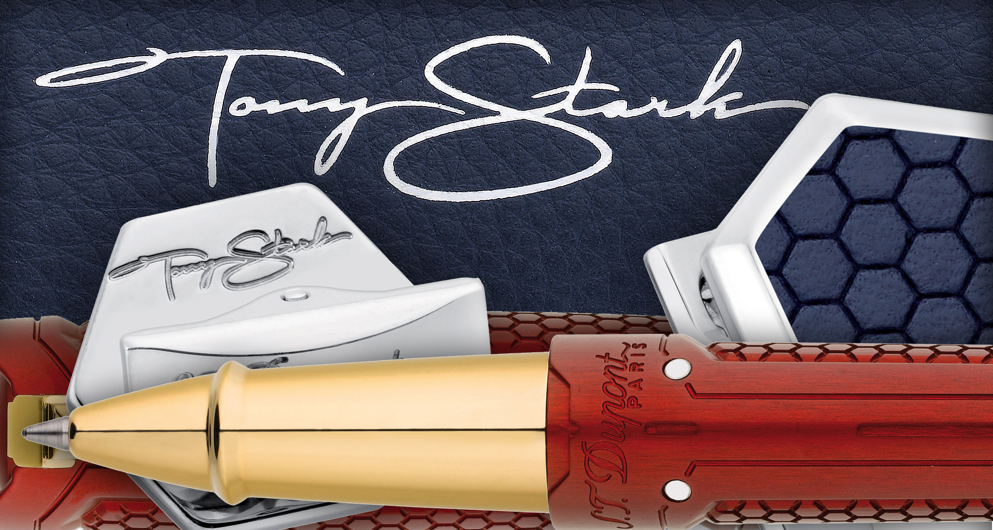The S.T. Dupont Iron Man And Tony Stark Collection