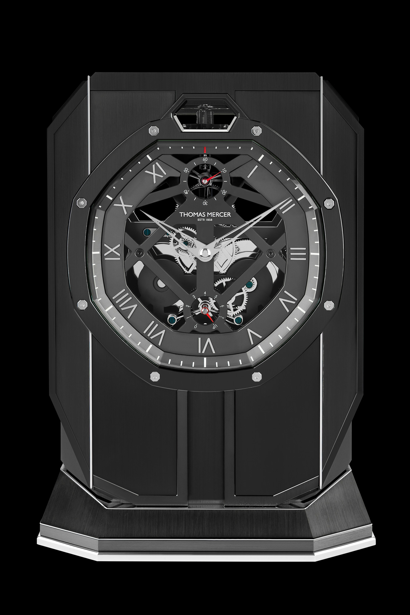The Thomas Mercer Brittanica Black Table Chronometer