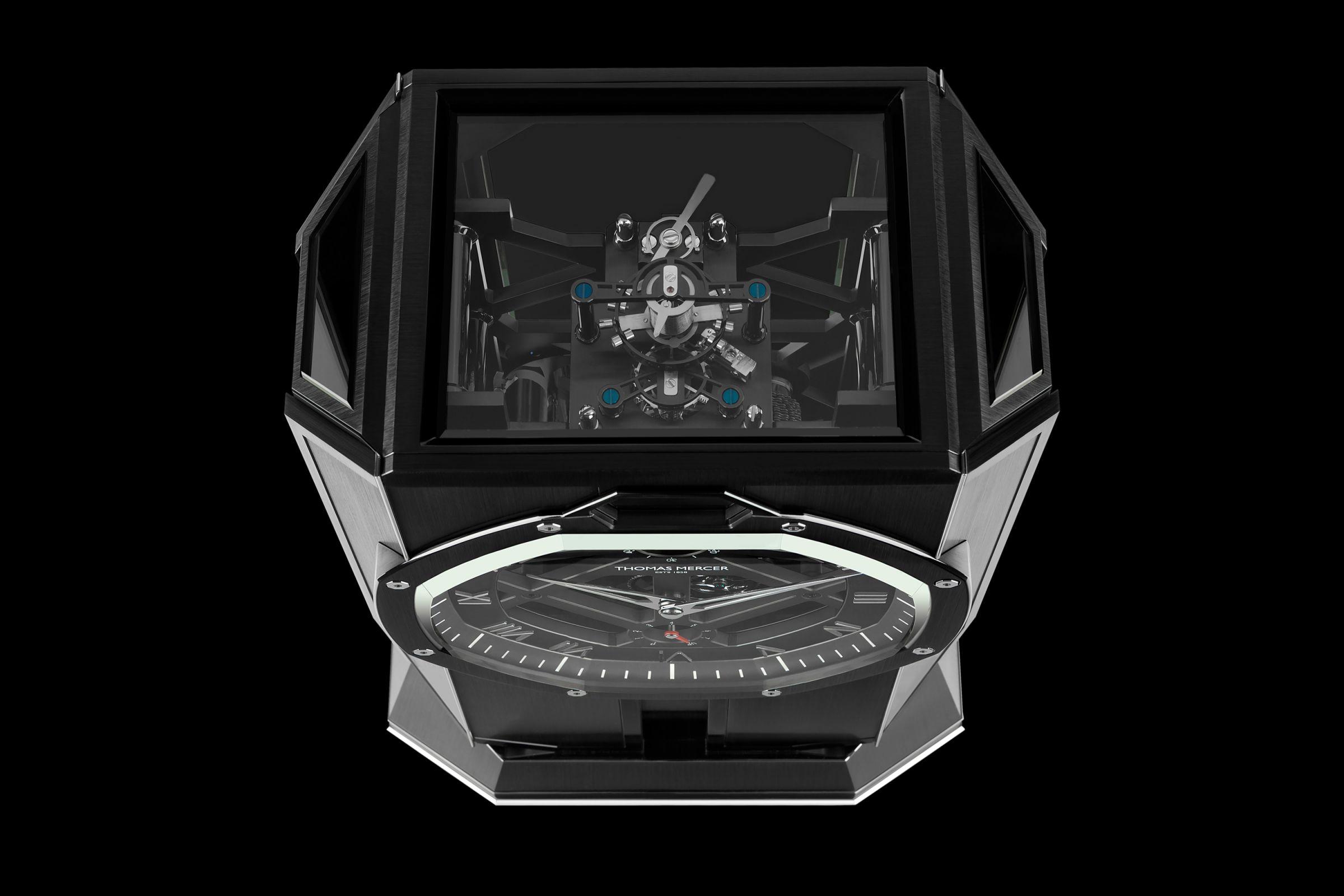 The Thomas Mercer Brittanica Black Table Chronometer