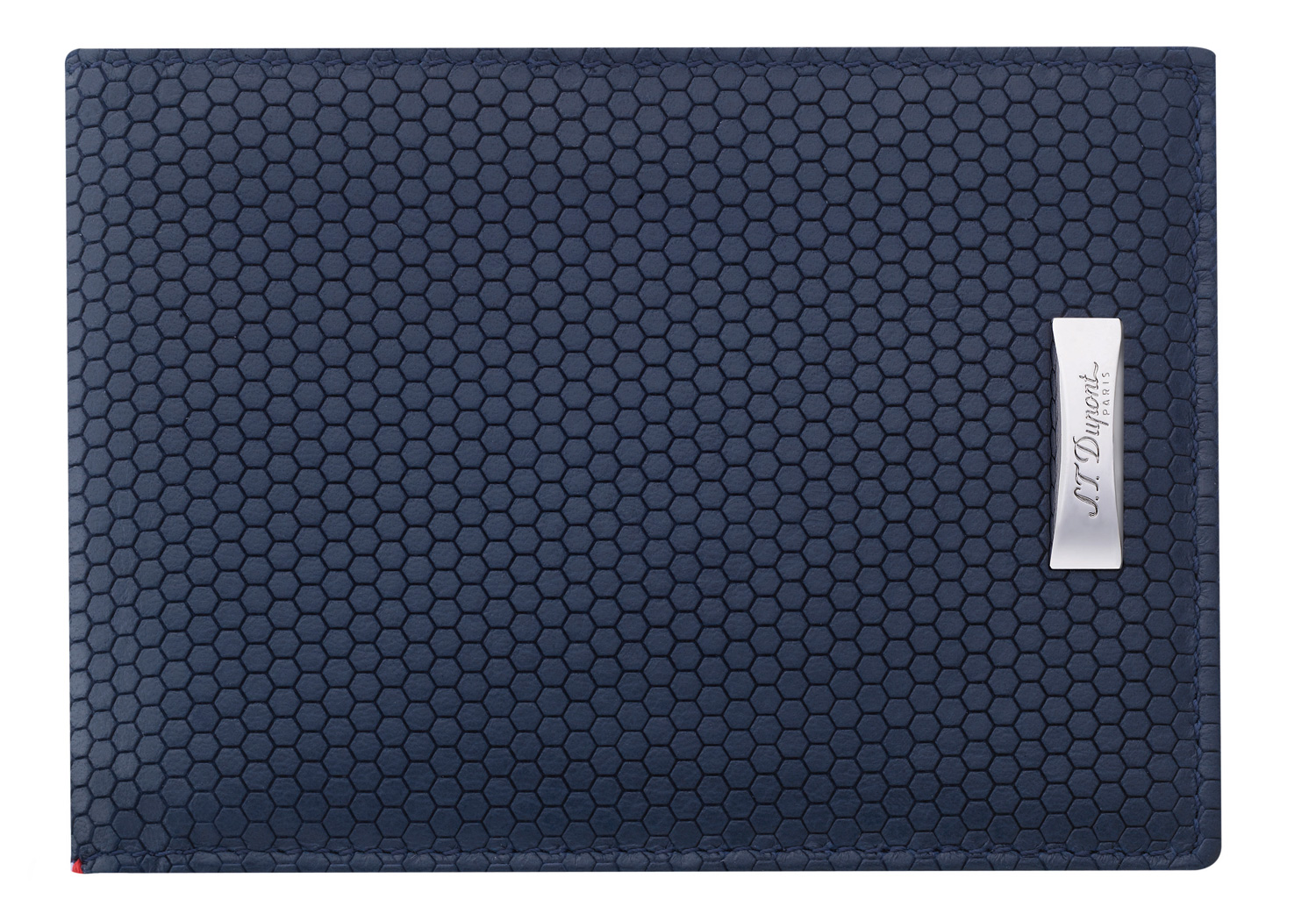 The Tony Stark wallet is in blue Line D Soft Diamond leather