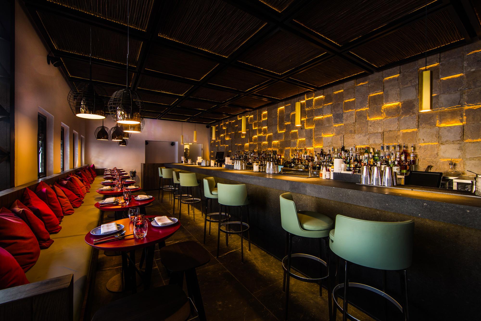 The bar at Ling Ling Mykonos
