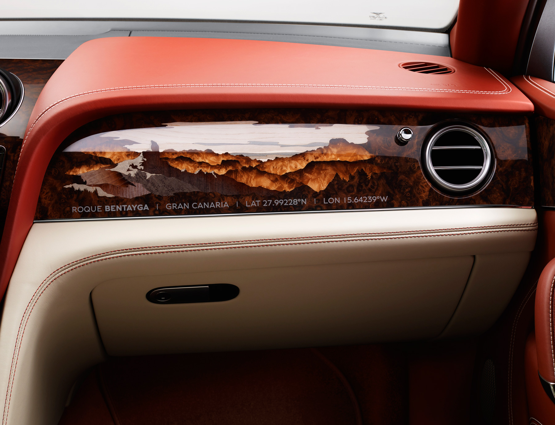 The incredible marquetry inside this one-of-a-kind Bentley Bentayga