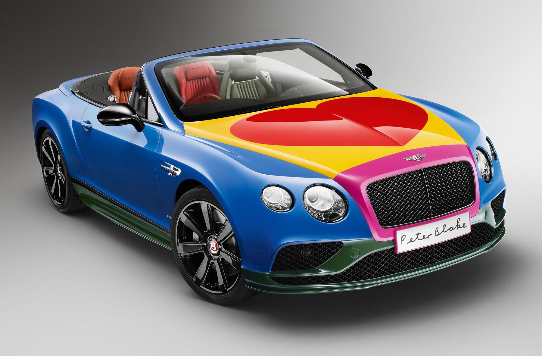 Bentley unveils new Pop Art Bentley V8 by artist Sir Peter Blake