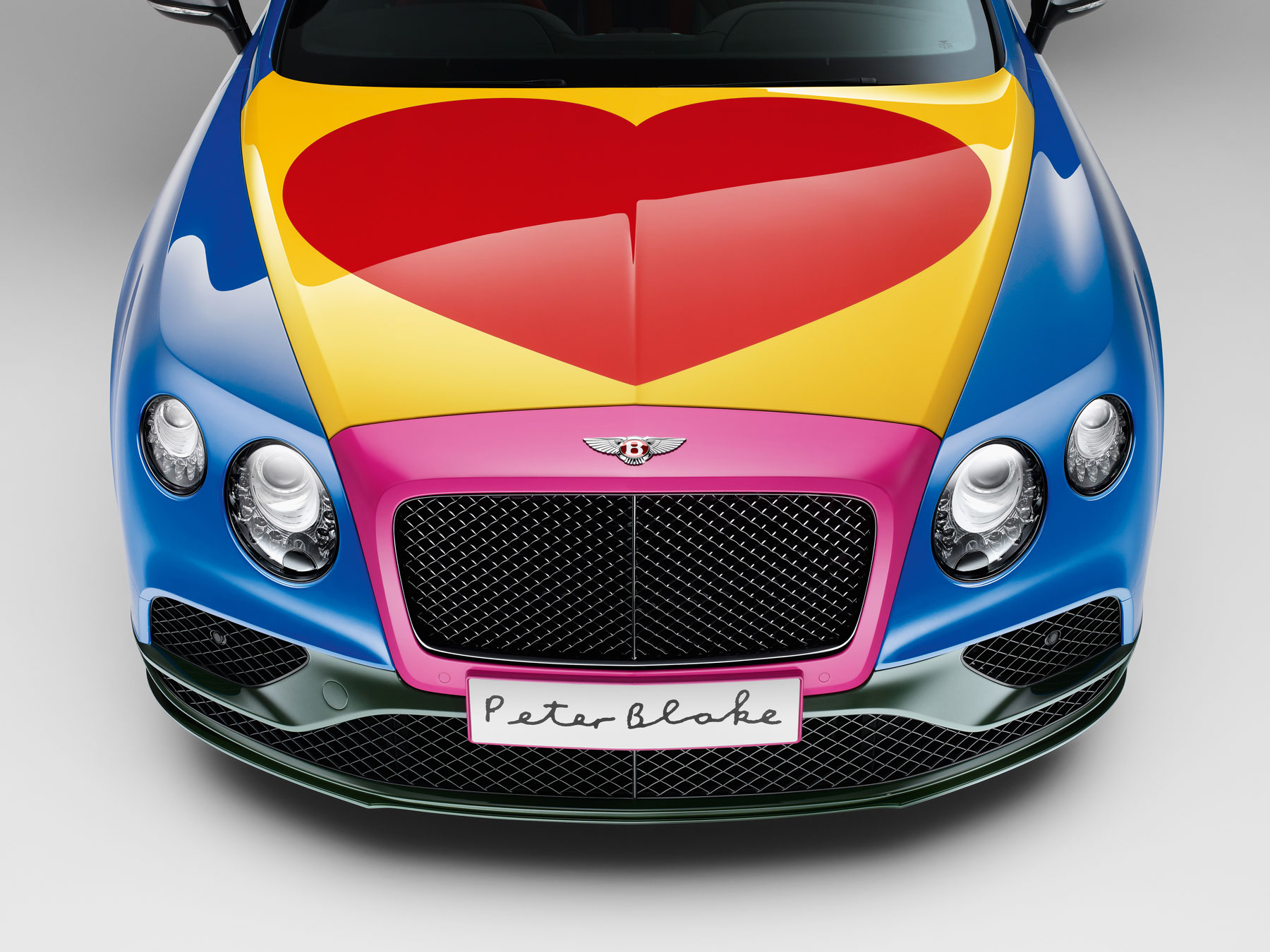 Pop Art Bentley – created by artist Sir Peter Blake